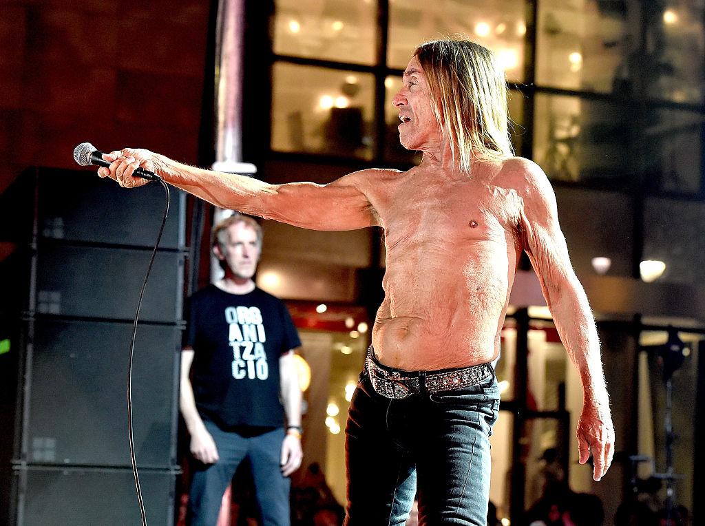 Iggy Pop performs on October 28, 2015 in Los Angeles.