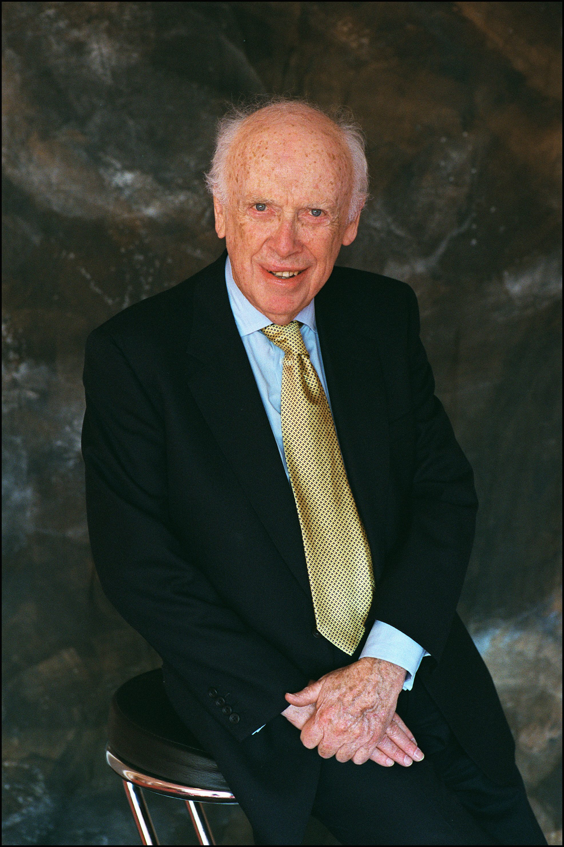 James Watson, Nobel Prize of Medicine in 1962 and co-discoverer of DNA, at BioVision forum in Nobel Prizes and Biotechnology Gurus celebrate DNA Discovery's 50th Anniversary in Lyon, France on April 08, 2003.