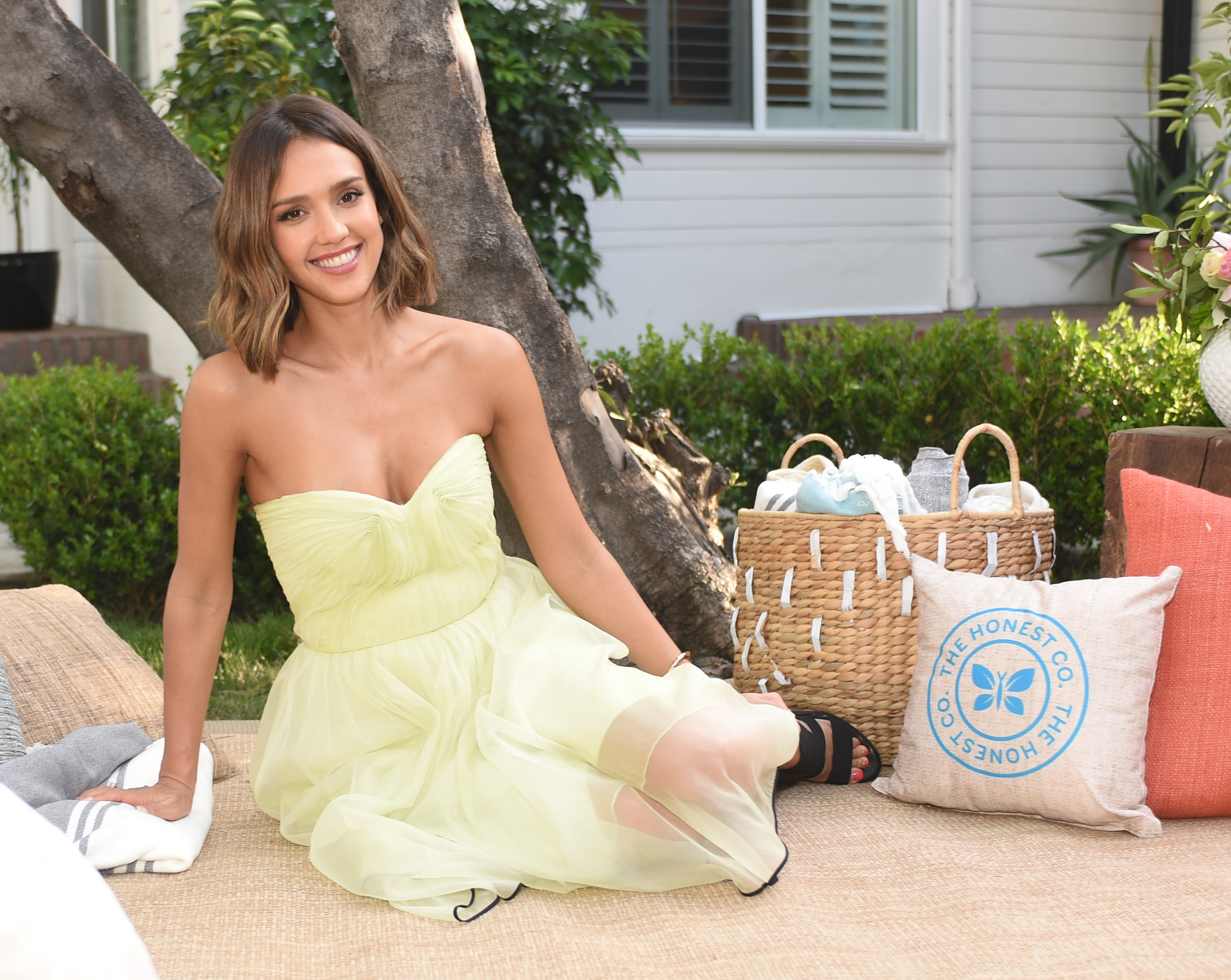 Jessica Alba attends The Honest Company at Target one-year anniversary event on April 29, 2015 in Los Angeles, California.