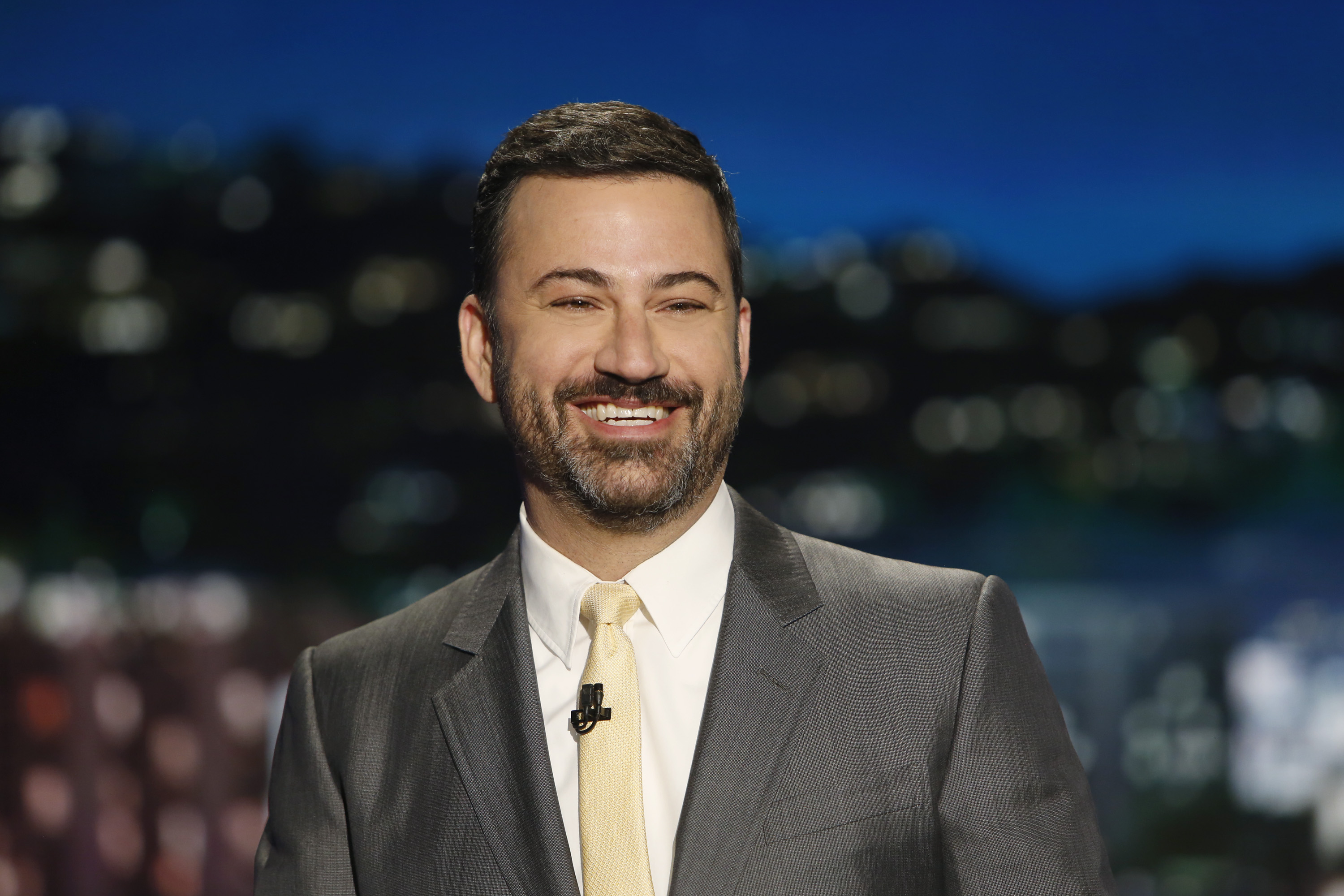 Jimmy Kimmel speaks in front of his audience at 'Jimmy Kimmel Live.'