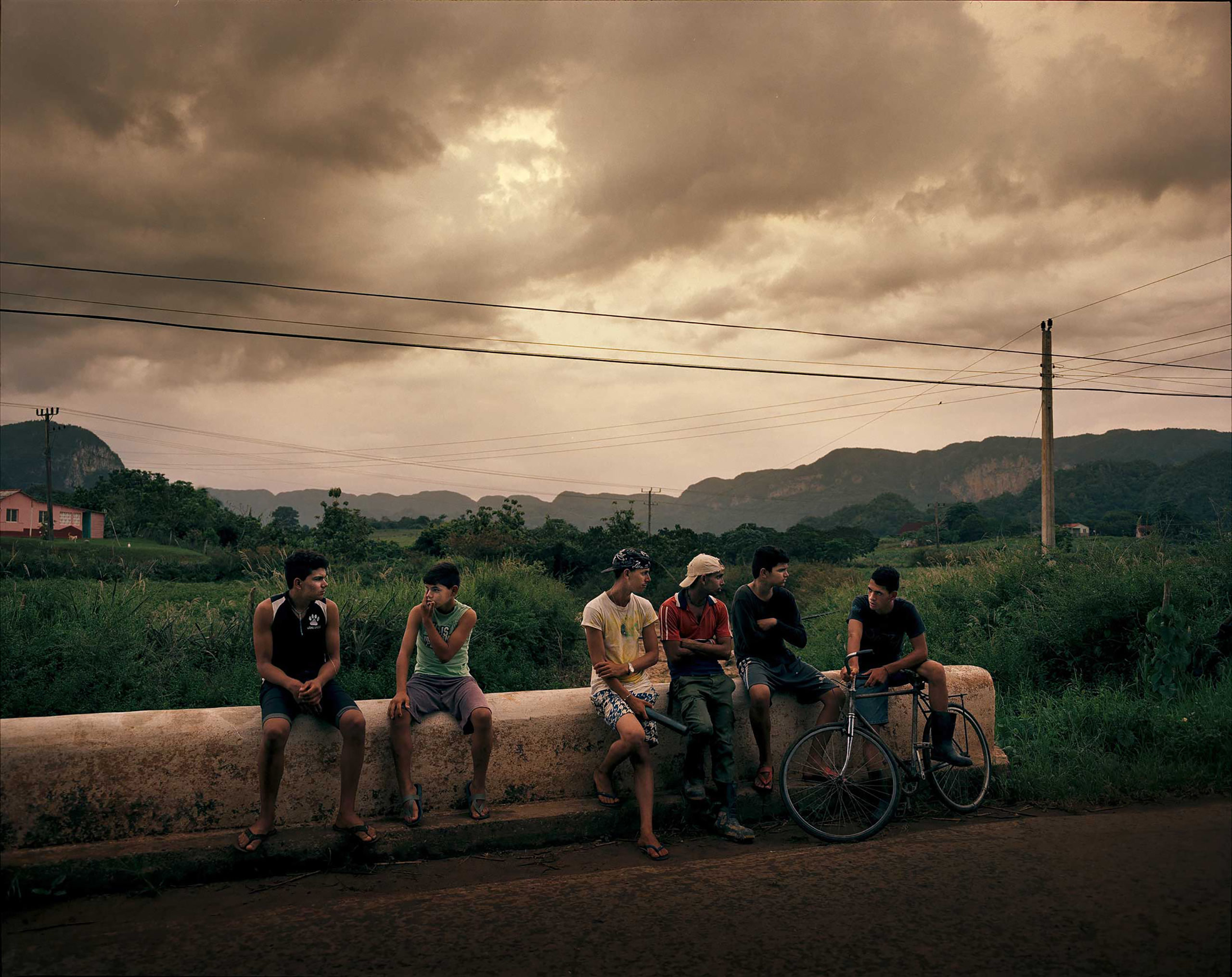 Young men on the road to Vi–ales, a valley in the most western Cuban province of Pinar del Rio.
