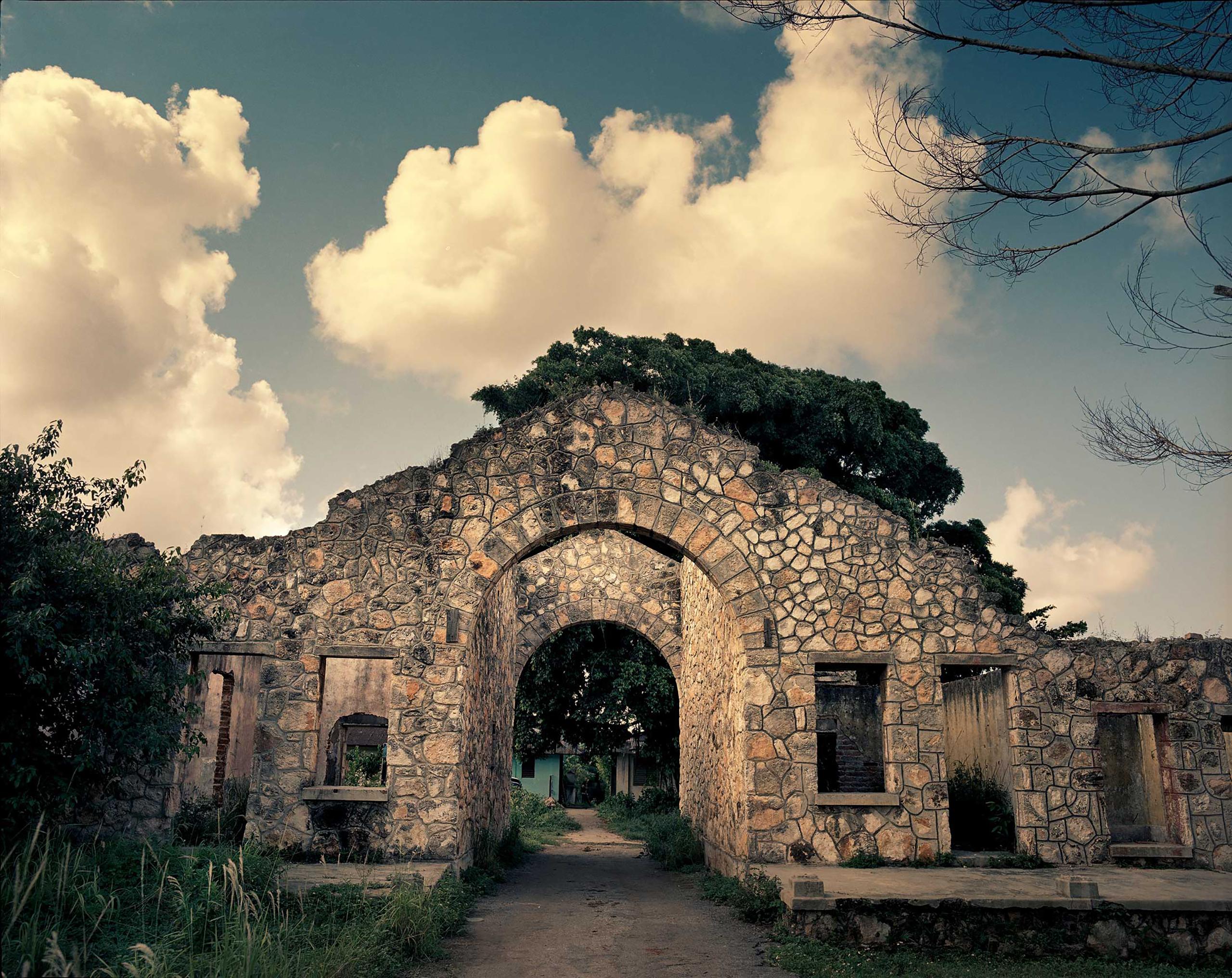 An ancient housing facility belonging to the Hershey sugar mill,  50 kilometers east of Havana city, Cuba.