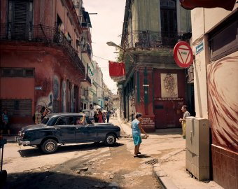 A street scene in Havana, Cuba. June 2015.