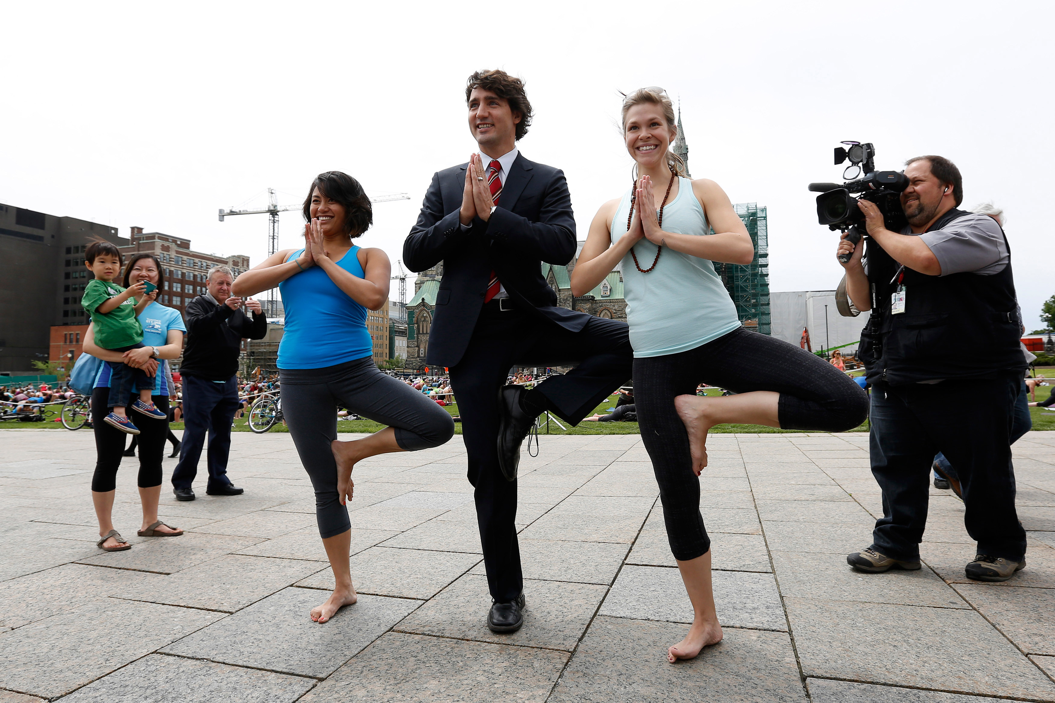 Justin Trudeau Does Yoga Pose In Photo From 2013 Time