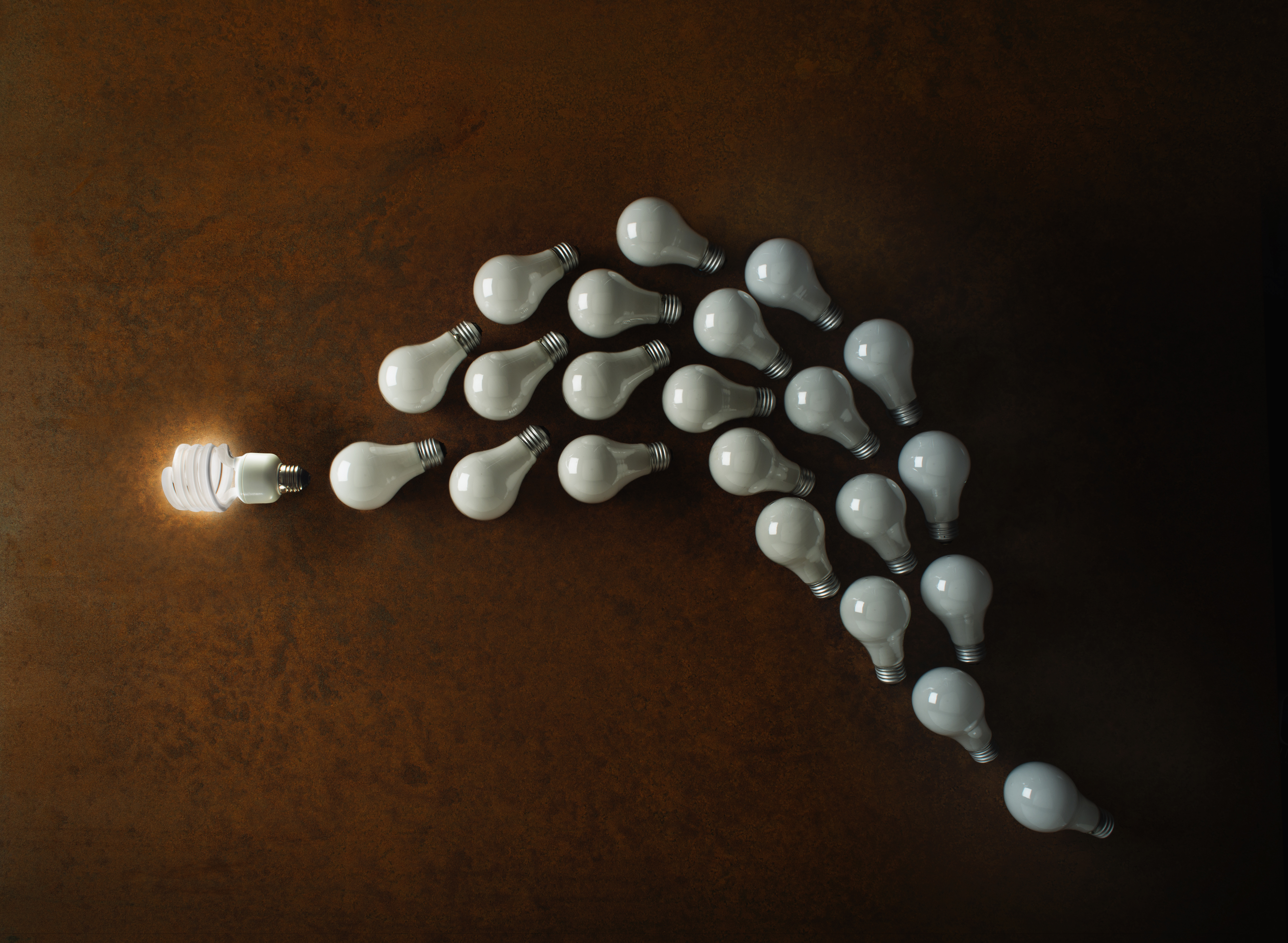 Compact Fluorescent Lightbulb leading the pack
