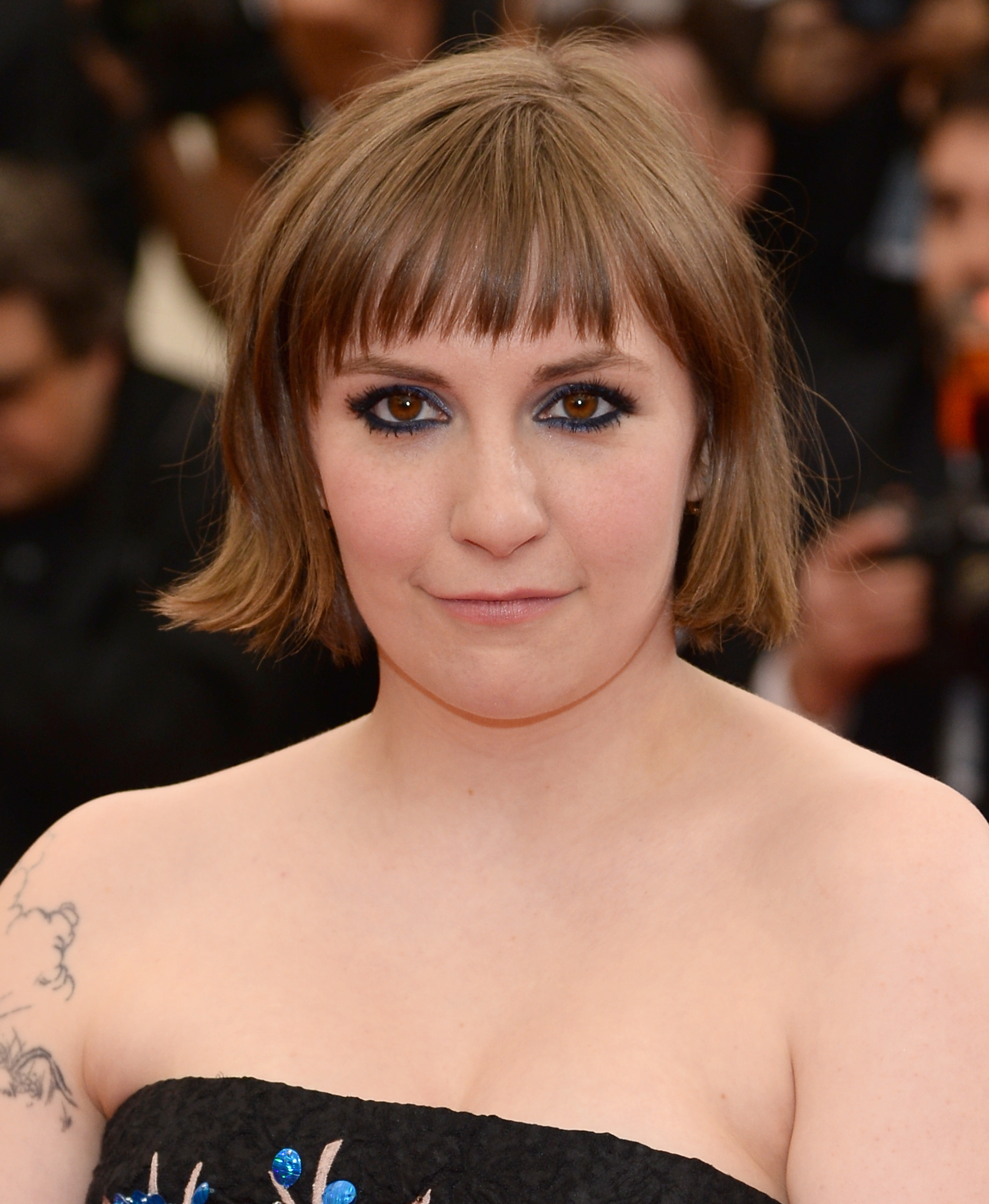 Lena Dunham attends the  Charles James: Beyond Fashion  Costume Institute Gala at the Metropolitan Museum of Art on May 5, 2014 in New York City.
