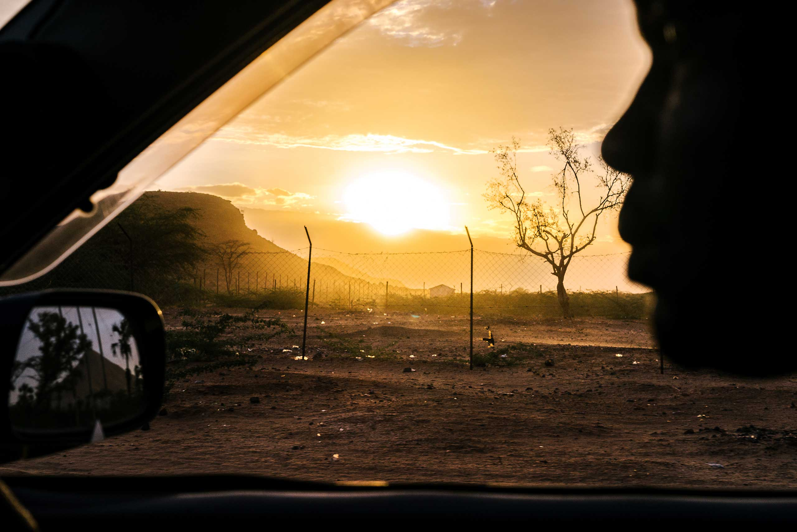 The sun sets over Lodwar in northwestern Kenya near where the Kakuma Refugee Camp is located. Kakuma is home to 182,000 refugees from all over the region.