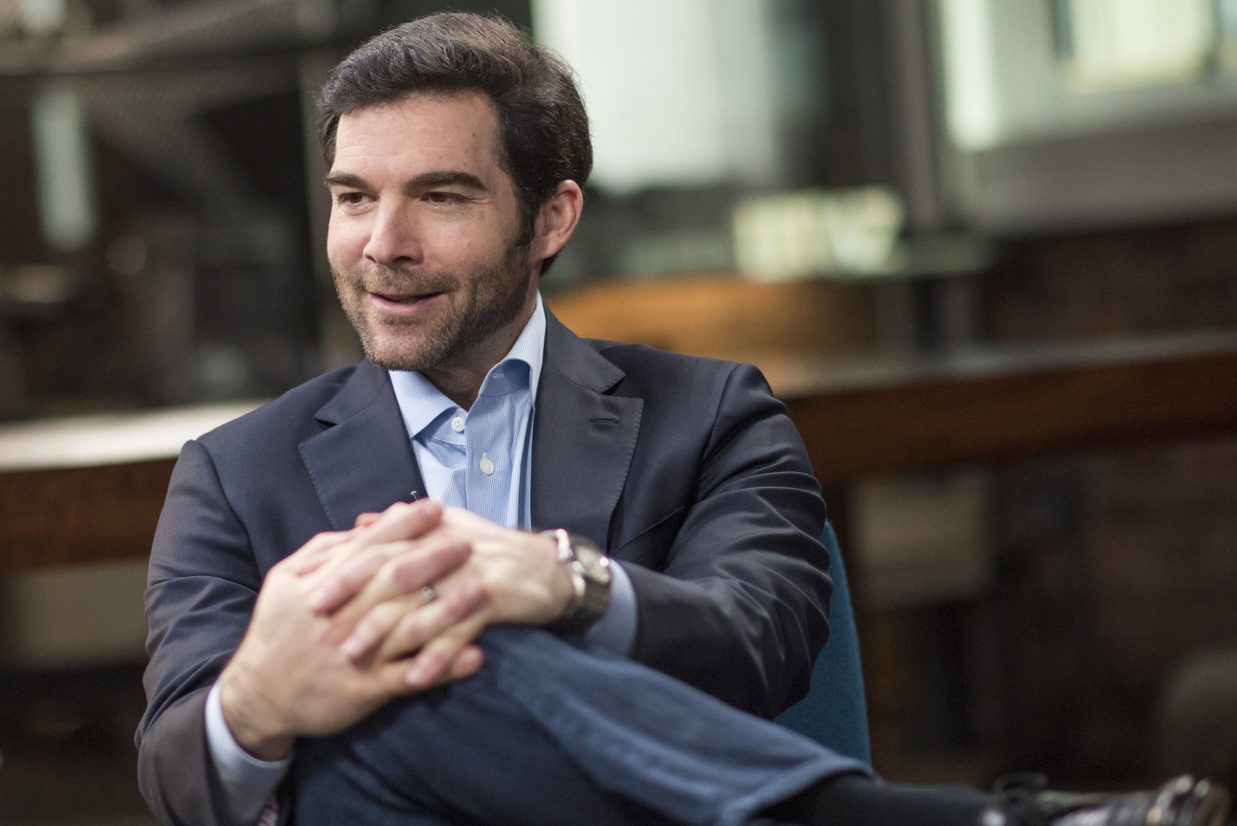 Jeff Weiner, chief executive officer of LinkedIn Corp., speaks during a Studio 1.0 interview in San Francisco, California, U.S., on Thursday, Feb. 25, 2016.