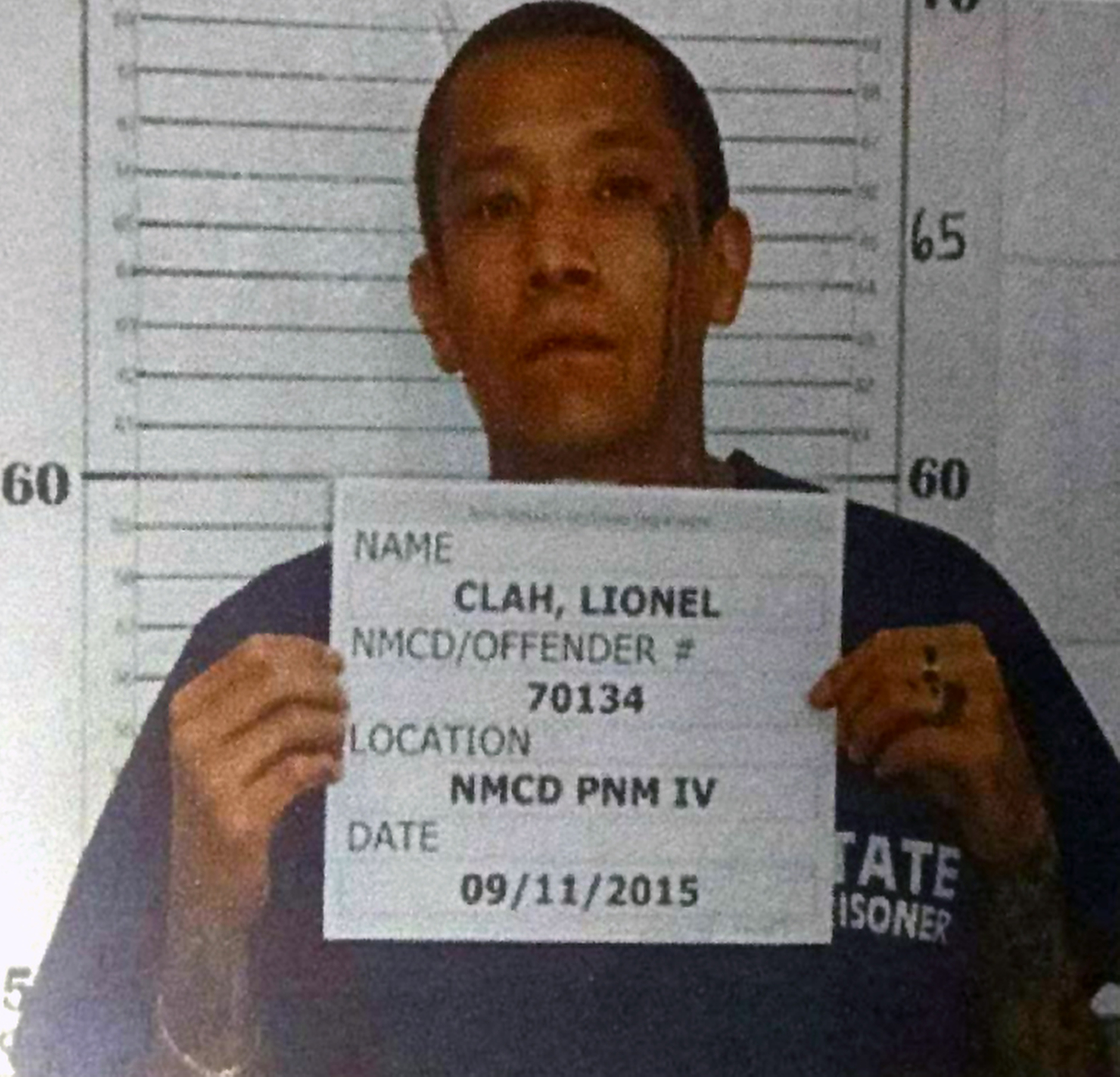This photo provided by the New Mexico Corrections Department shows inmate Lionel Clah.