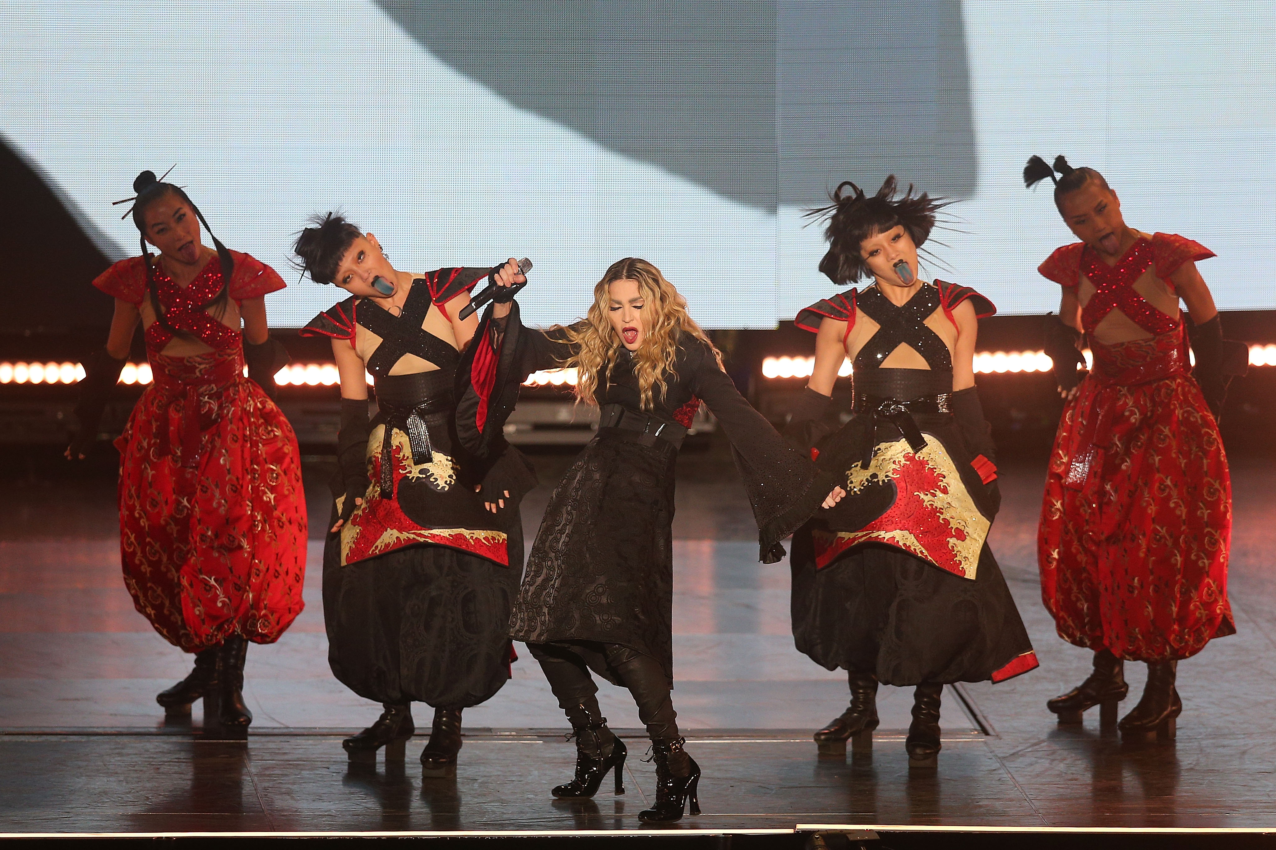 Madonna performs on March 12, 2016 in Melbourne, Australia.