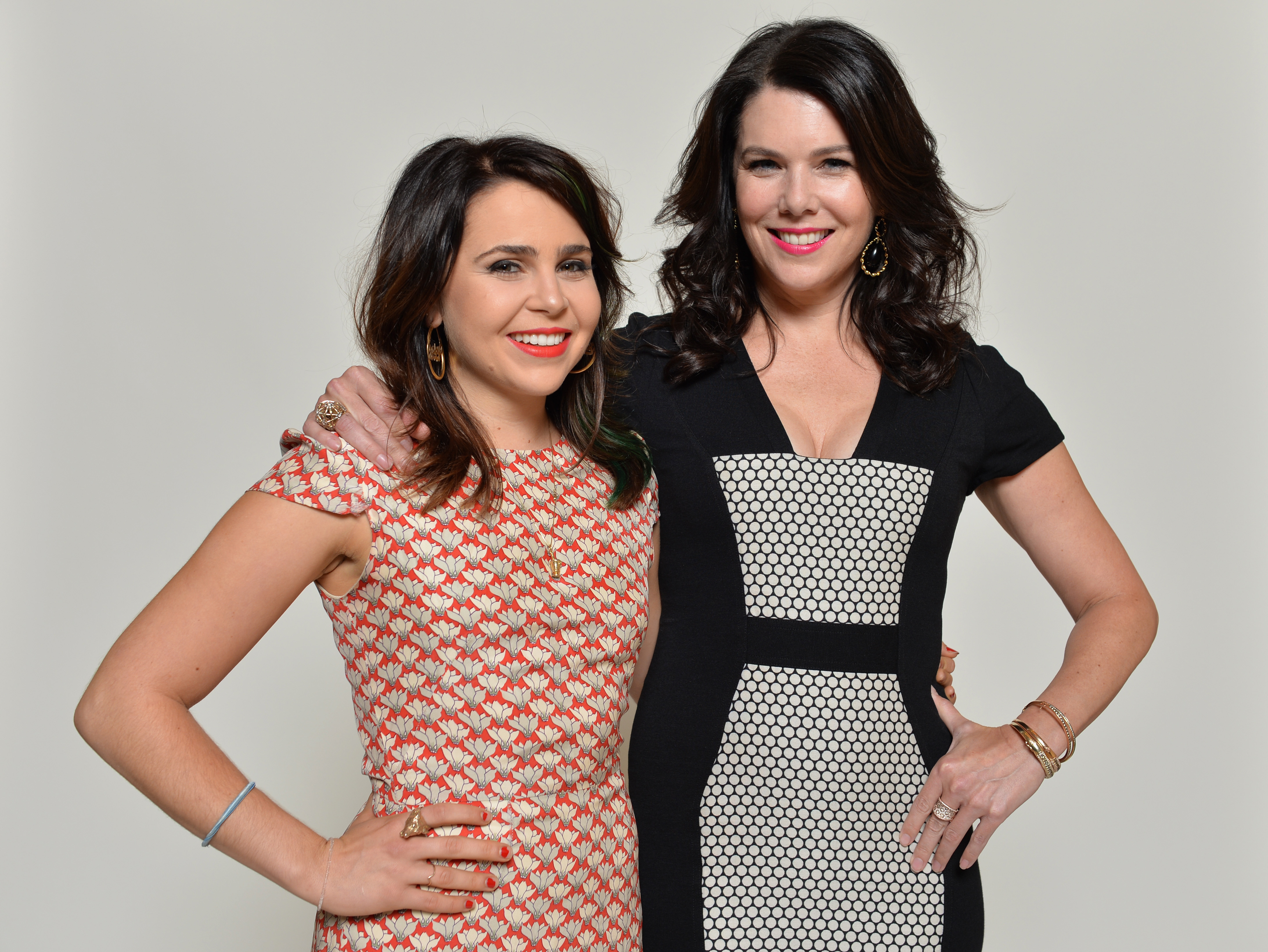 Mae Whitman and Lauren Graham pose for a portrait during NBC 2013 Summer Press Tour at The Beverly Hilton Hotel on July 27, 2013 in Beverly Hills, California.