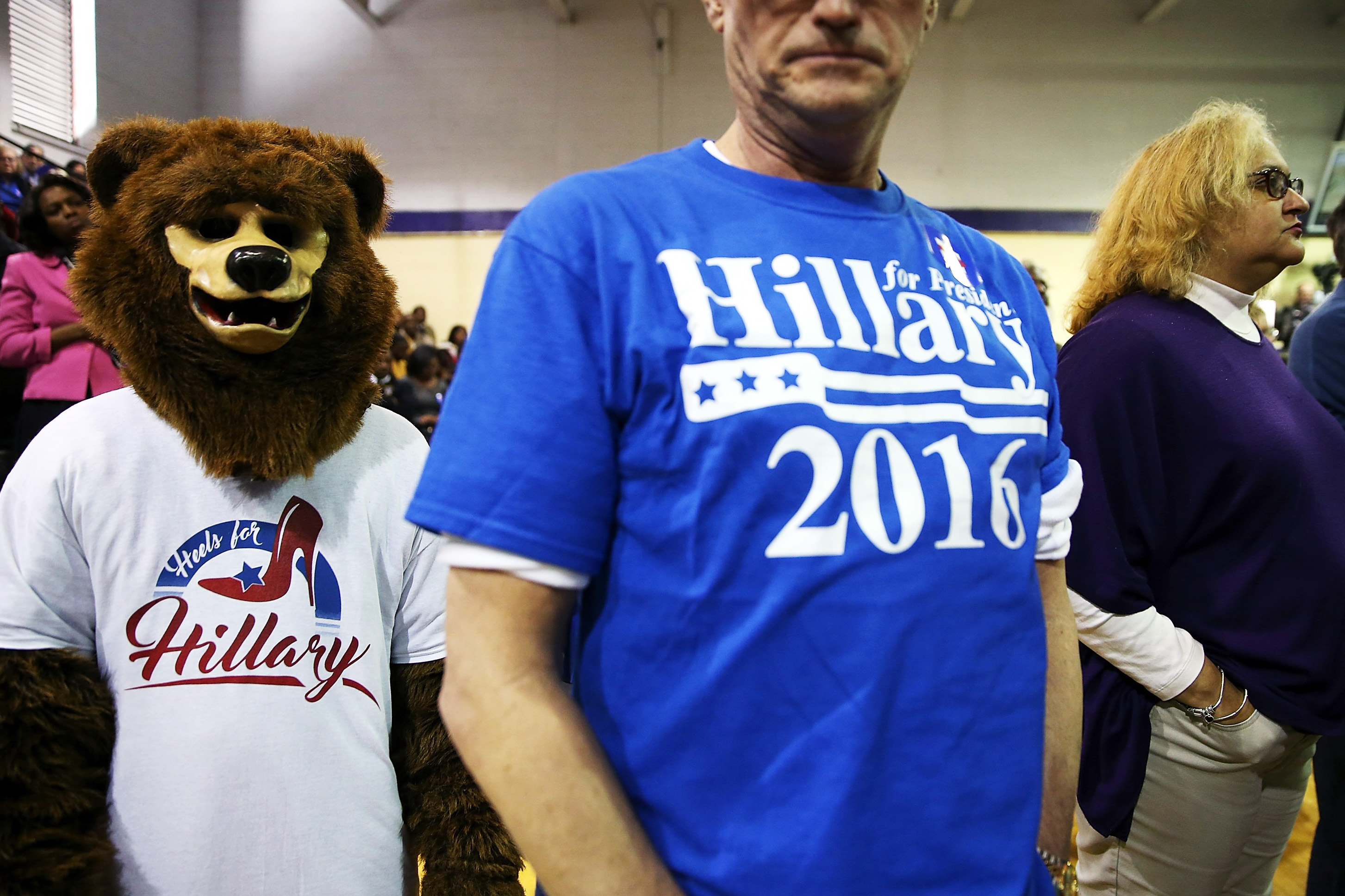 "Hillary Clinton supporters attend a ""Get Out The Vote"" on Feb. 27 in Fairfield, Ala."