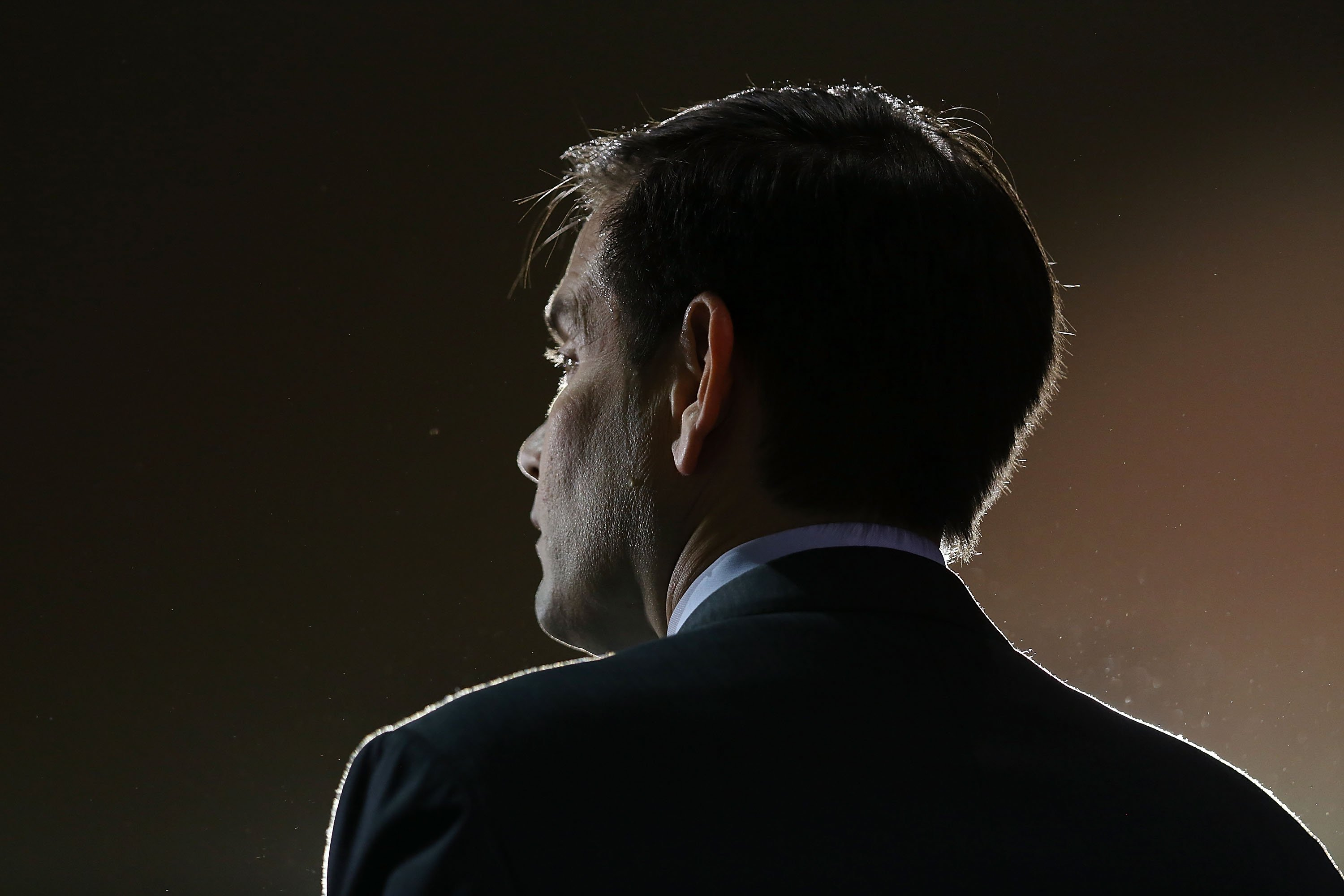 Republican presidential candidate, Florida Sen. Marco Rubio speaks during a campaign rally on March 7, 2016 in Tampa, Fla.