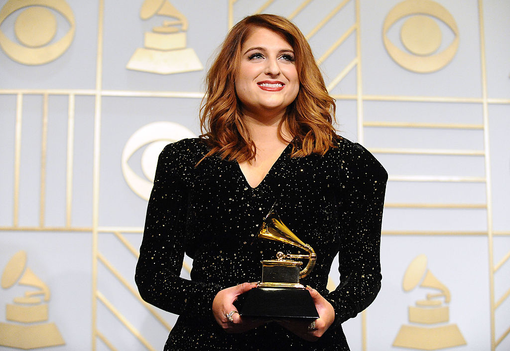 Meghan Trainor at the 58th Grammy Awards on Feb. 15 in Los Angeles, California.