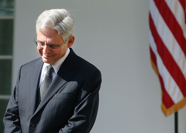 Judge Merrick B. Garland listens to US President Barack Obama nominate him to the US Supreme Court, in the Rose Garden at the White House, March 16, 2016 in Washington, DC.
