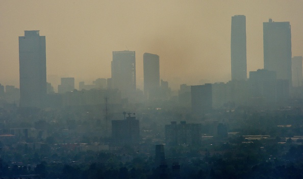 View of Mexico City amid smog on Dec. 26, 2015. Mexico City is considered one of the most polluted cities in the world.