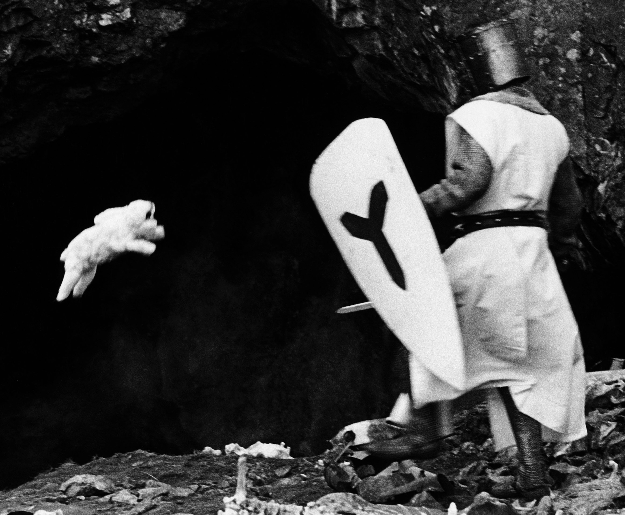 The Killer Rabbit of Caerbannog in Monty Python and the Holy Grail.