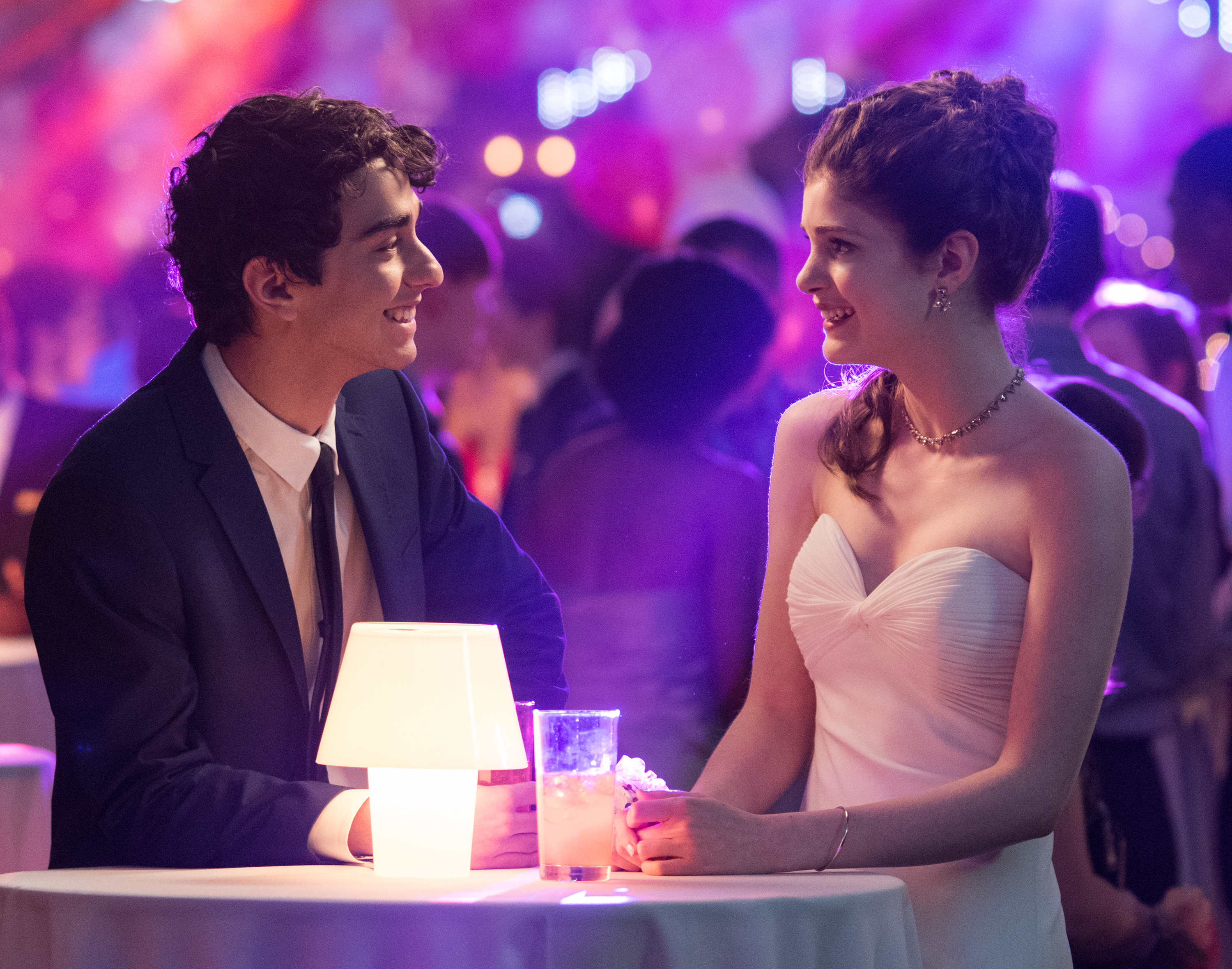 Alex Wolff, left, and Elena Kampouris, right, in a scene from My Big Fat Greek Wedding 2.