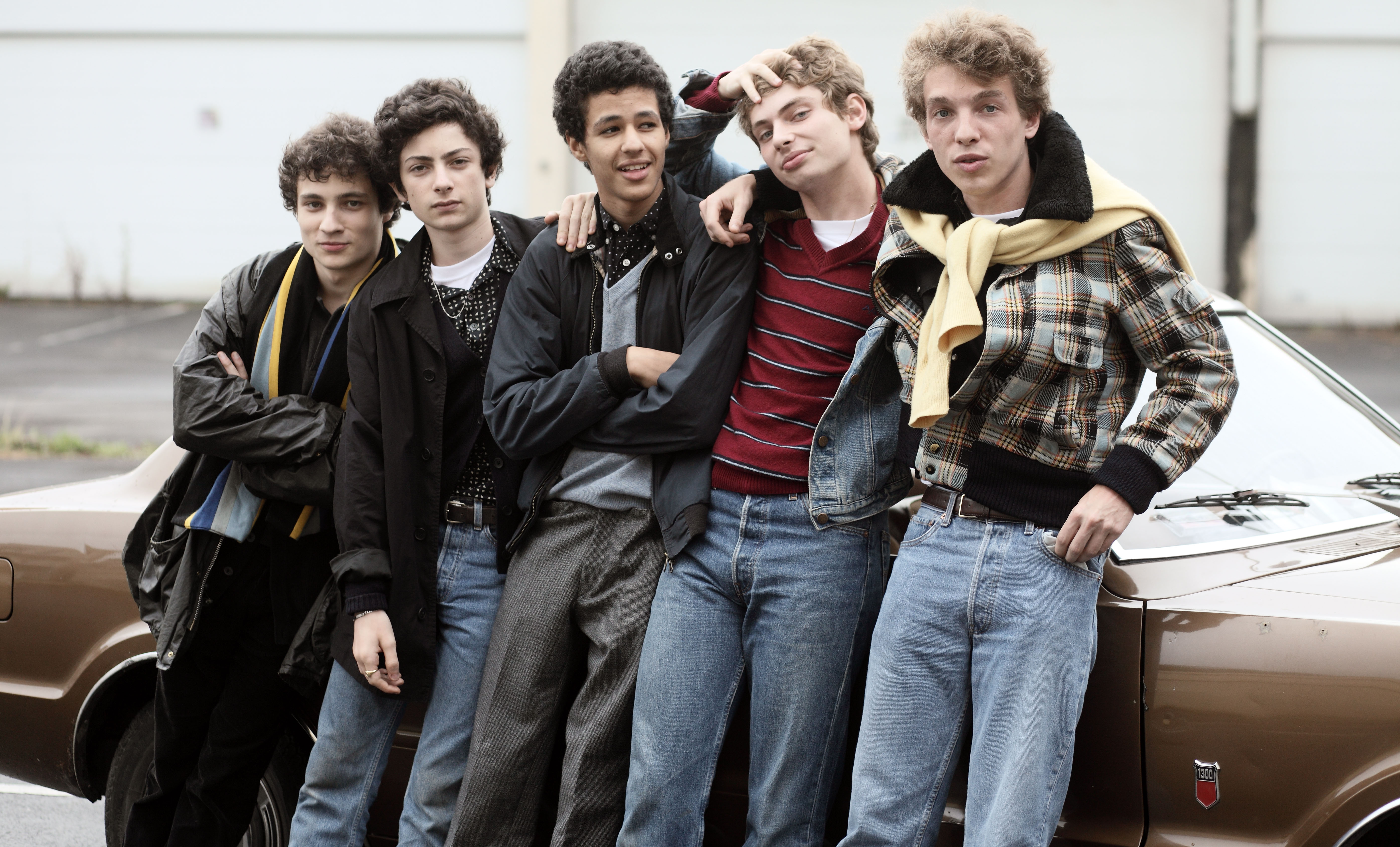 From left: Quentin Dolmaire, Theo Fernandez, Yassine Douighi, Raphael Cohen, and Pierre Andrau in My Golden Days.