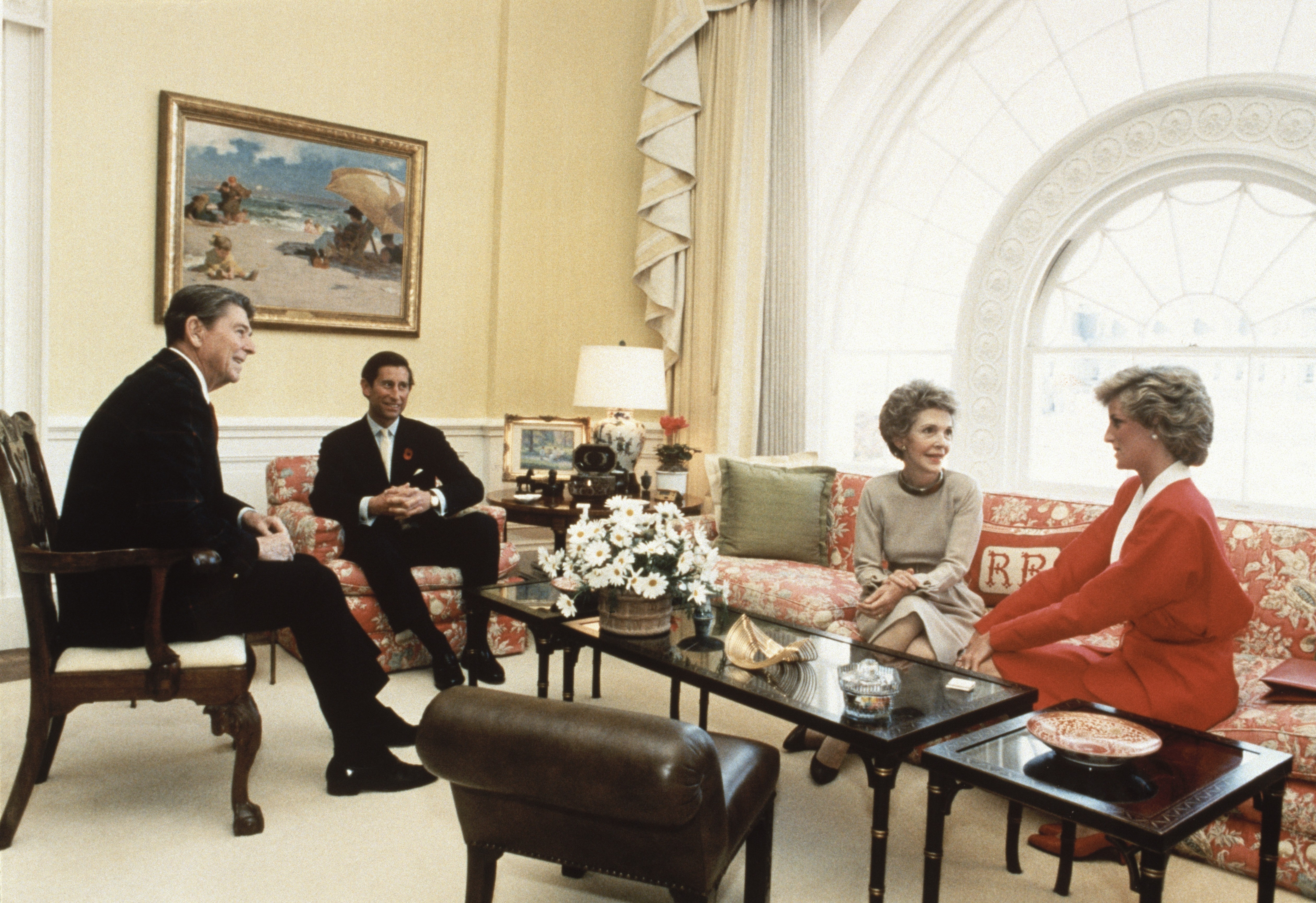 Entertainer In Chief                                                              Upon arriving in Washington, Nancy incurred controversy by setting about refurbishing the living quarters of the White House. Though the cost of the work was paid out of private donations, Nancy endured criticism from observers who felt that renovations were not an appropriate pursuit for an administration that was calling for reductions in federally funded social programs. Nancy insisted that the White House had fallen into disrepair, and, as a historically important building belonging to all Americans, it deserved first class treatment. She and Reagan met with Prince Charles and Lady Diana in the living quarters in 1985.