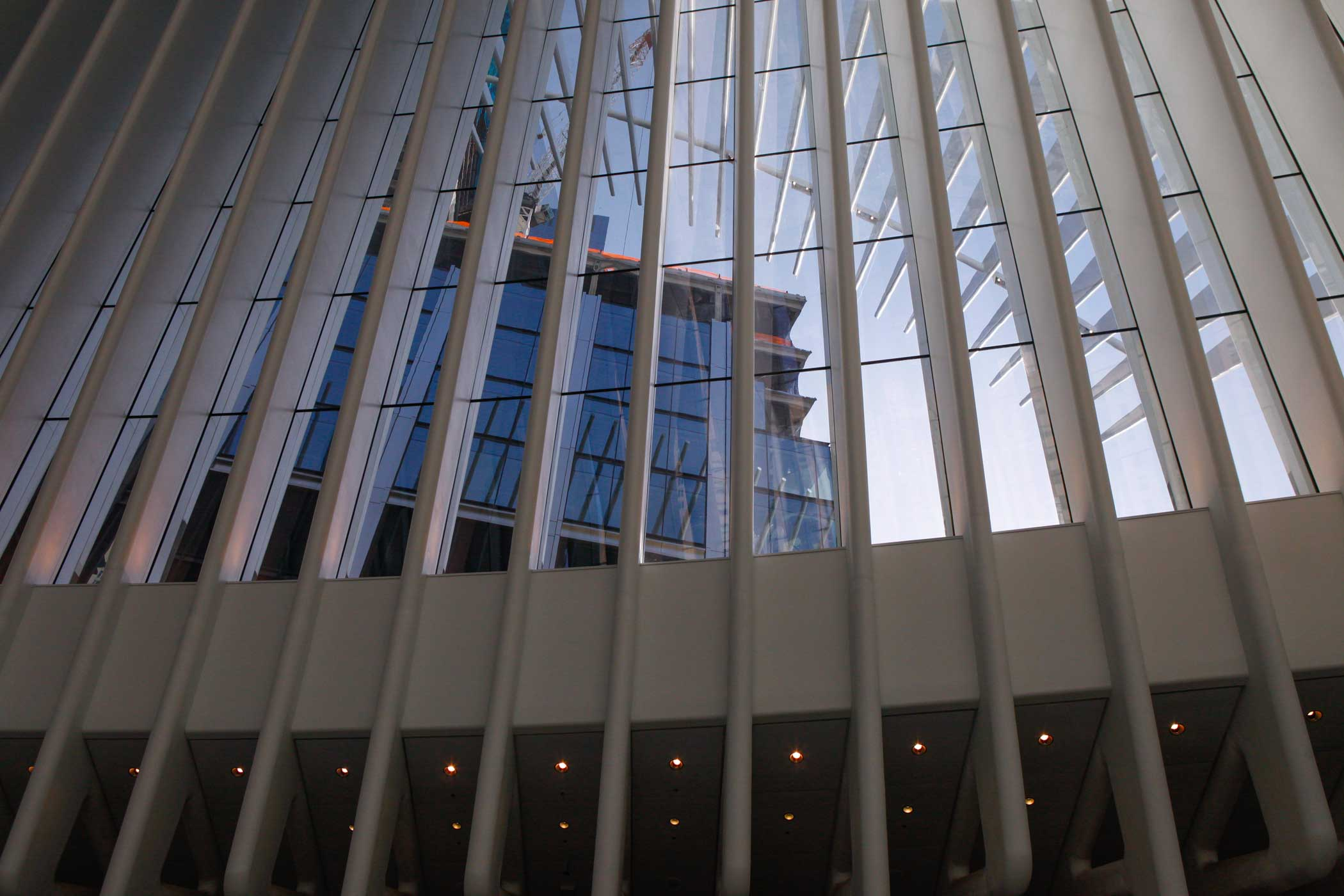 The World Trade Center 3  building seen from the Oculus.