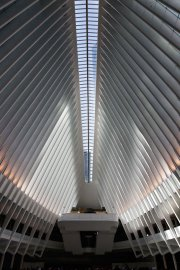 The roof of the Oculus structure of the World Trade Center Transportation Hub in New York on Mar. 3, 2016.
