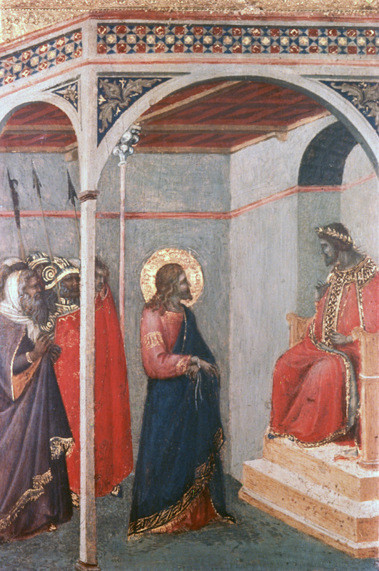 'Christ before Pilate', c1306-1348, by Pietro Lorenzetti
