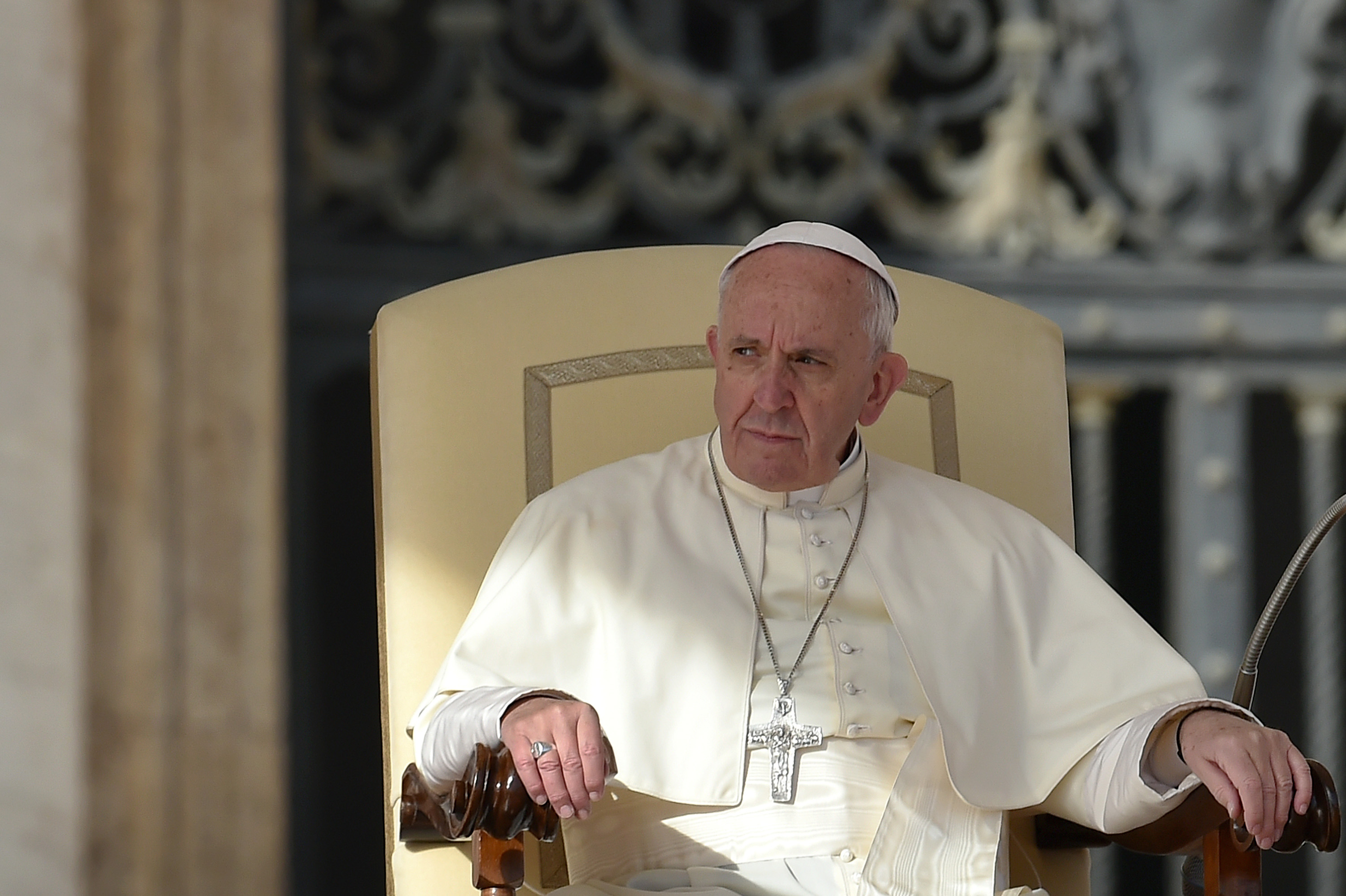 Pope Francis during his weekly general audience on February 24, 2016.