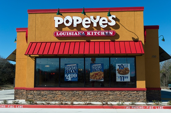 Stock photo of a Popeyes restaurant