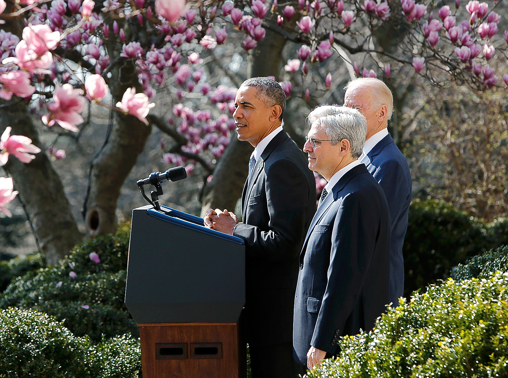 Chief DC Circuit Judge Merrick Garland (center) is Obama's third nominee to the Supreme Court