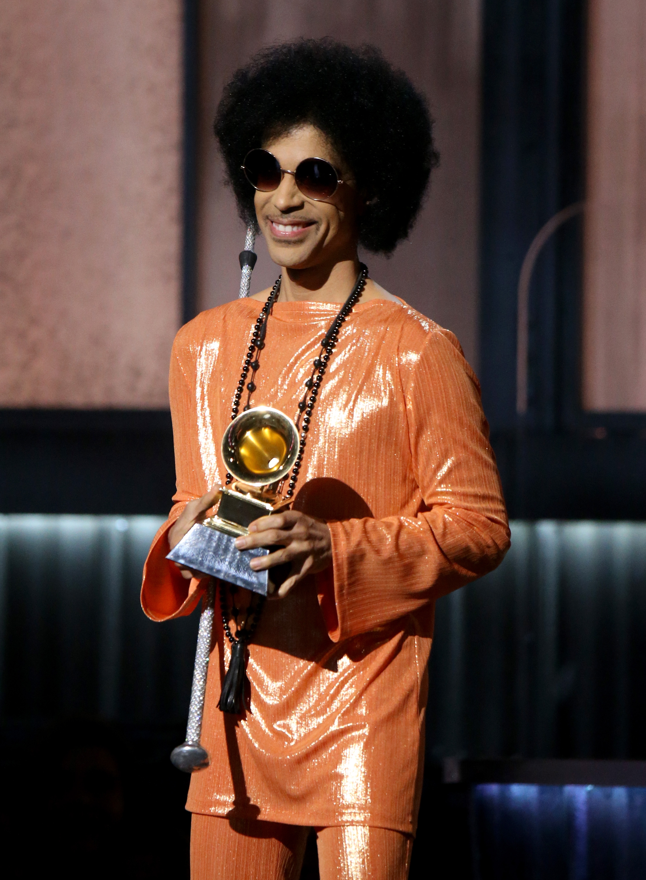 Prince speaks onstage during The 57th Annual GRAMMY Awards at on February 8, 2015 in Los Angeles, California.