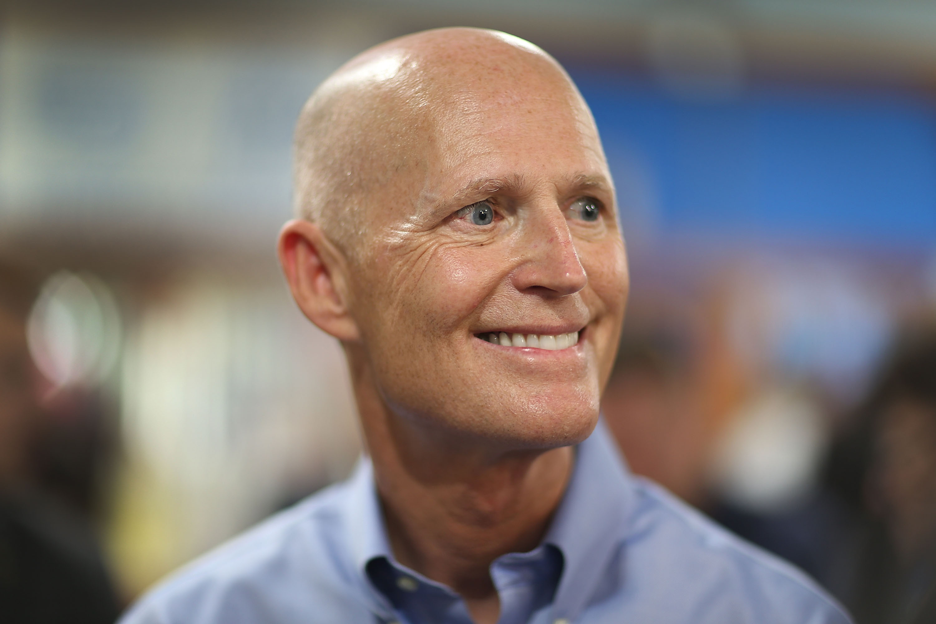 Florida Gov. Rick Scott as he visits the Marian Center which offers services for people with intellectual disabilities on July 13, 2015 in Miami Gardens, Fla.