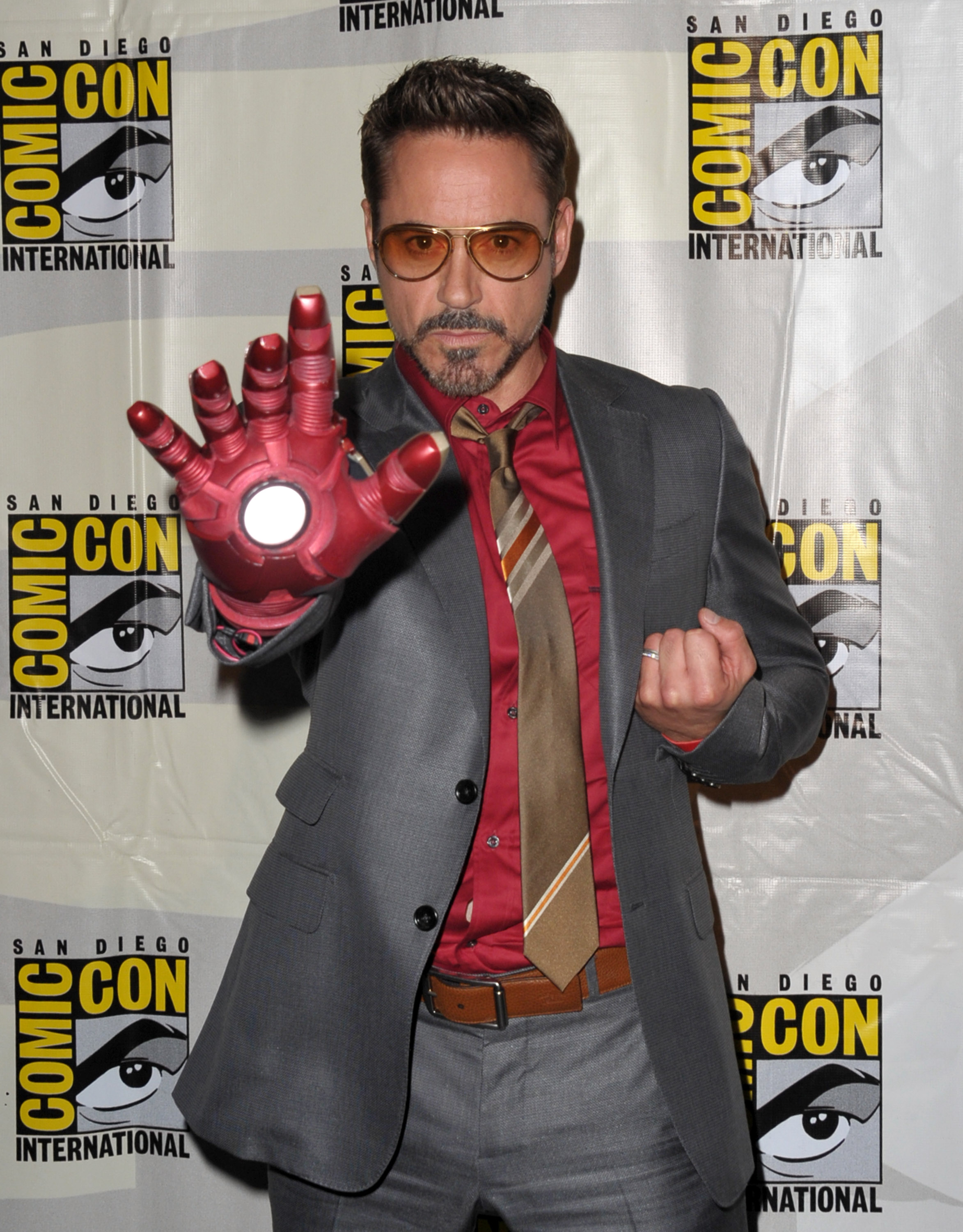 Actor Robert Downey Jr. attends Marvel Studios Iron Man 3 panel during Comic-Con International 2012 at San Diego Convention Center on July 14, 2012 in San Diego, California.