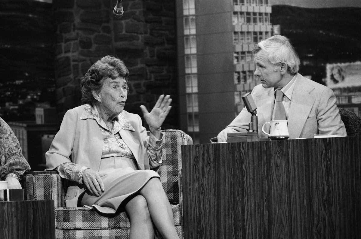 Journalist/writer Adela Rogers St. Johns appears on The Tonight Show with Johnny Carson on April 16, 1976
