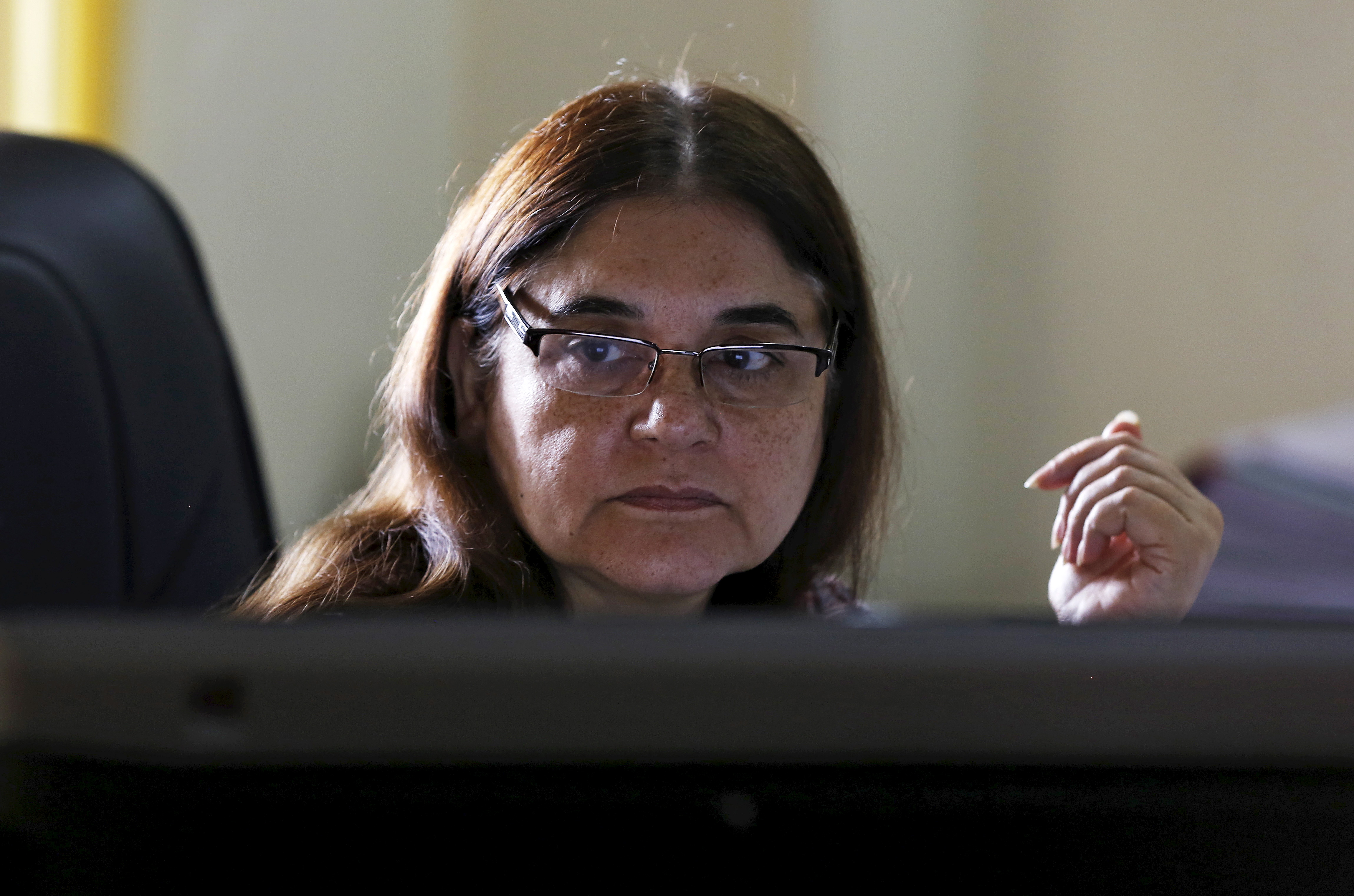 India's Women and Child Welfare Minister Maneka Gandhi at her office in New Delhi on Oct. 19, 2015