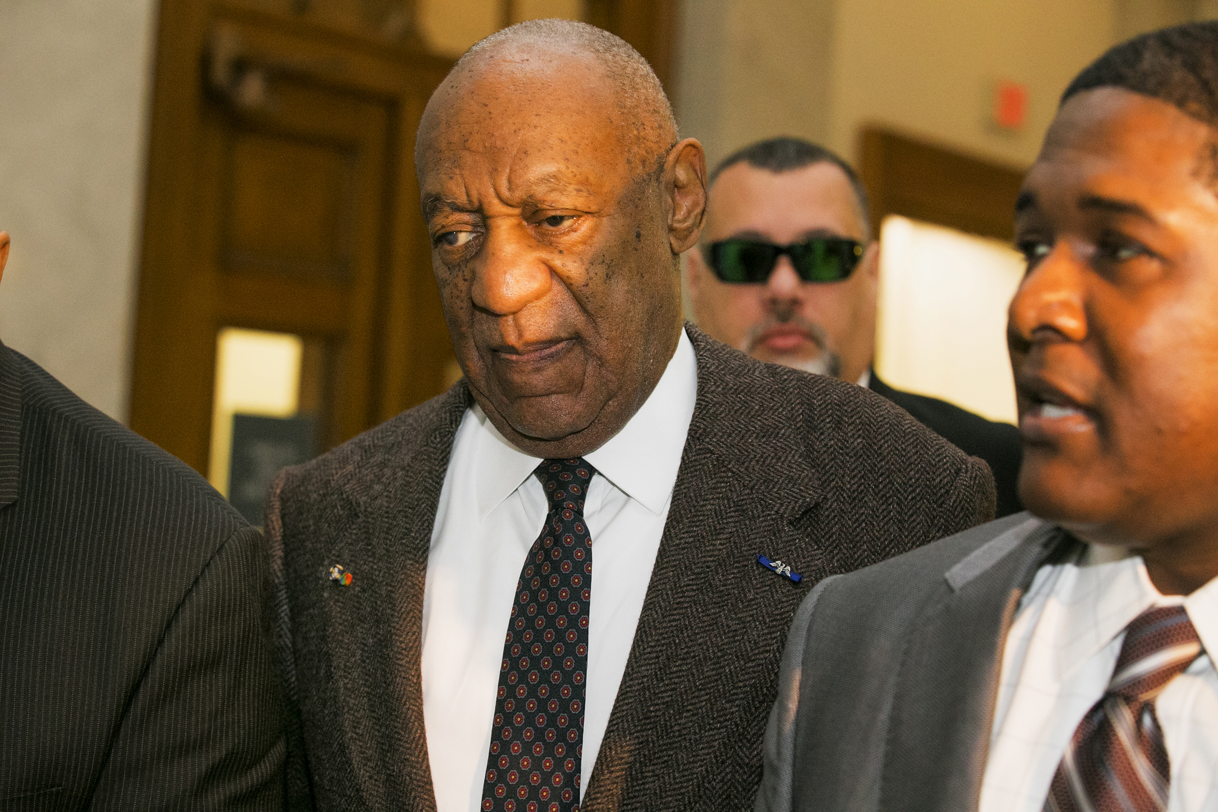 Actor and comedian Bill Cosby arrives for the second day of hearings at the Montgomery County Courthouse in Norristown, Pa., Feb. 3, 2016