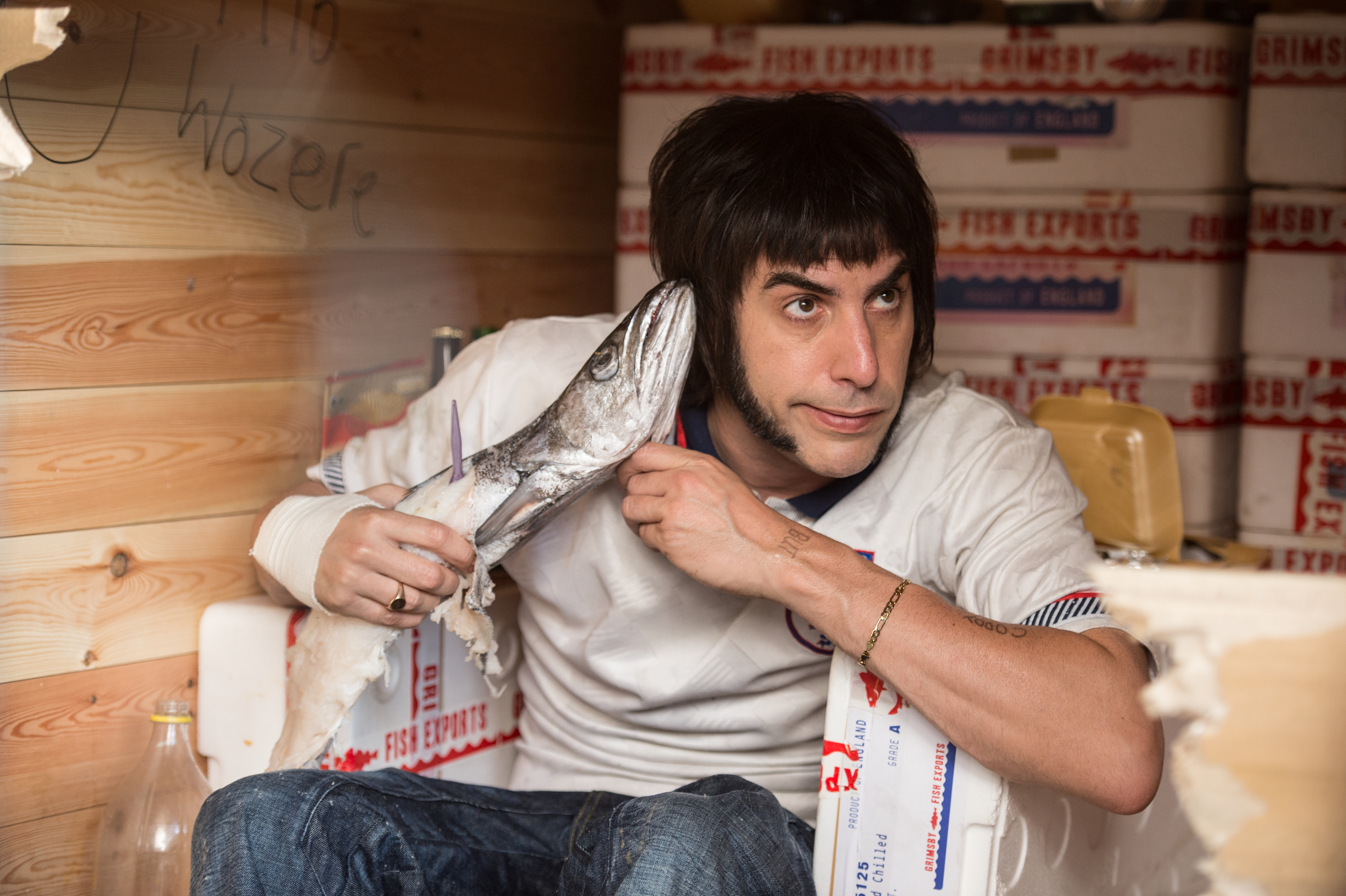 Sacha Baron Cohen as Norman  Nobby  Butcher in The Brothers Grimsby, 2016.