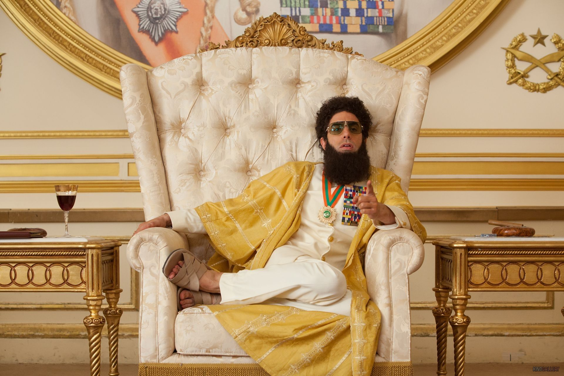 Sacha Baron Cohen as Admiral General Haffaz Aladeen in The Dictator, 2012.