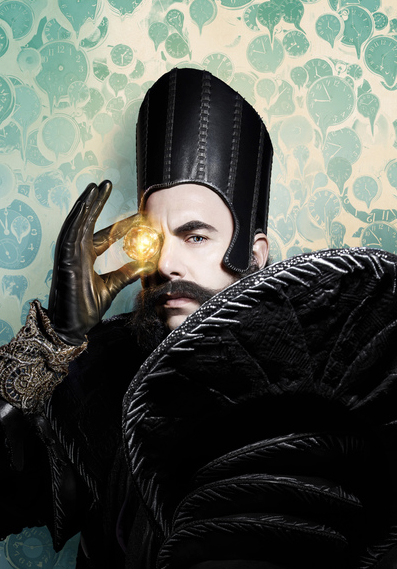 Sacha Baron Cohen as Time in Alice Through the Looking Glass, 2016.