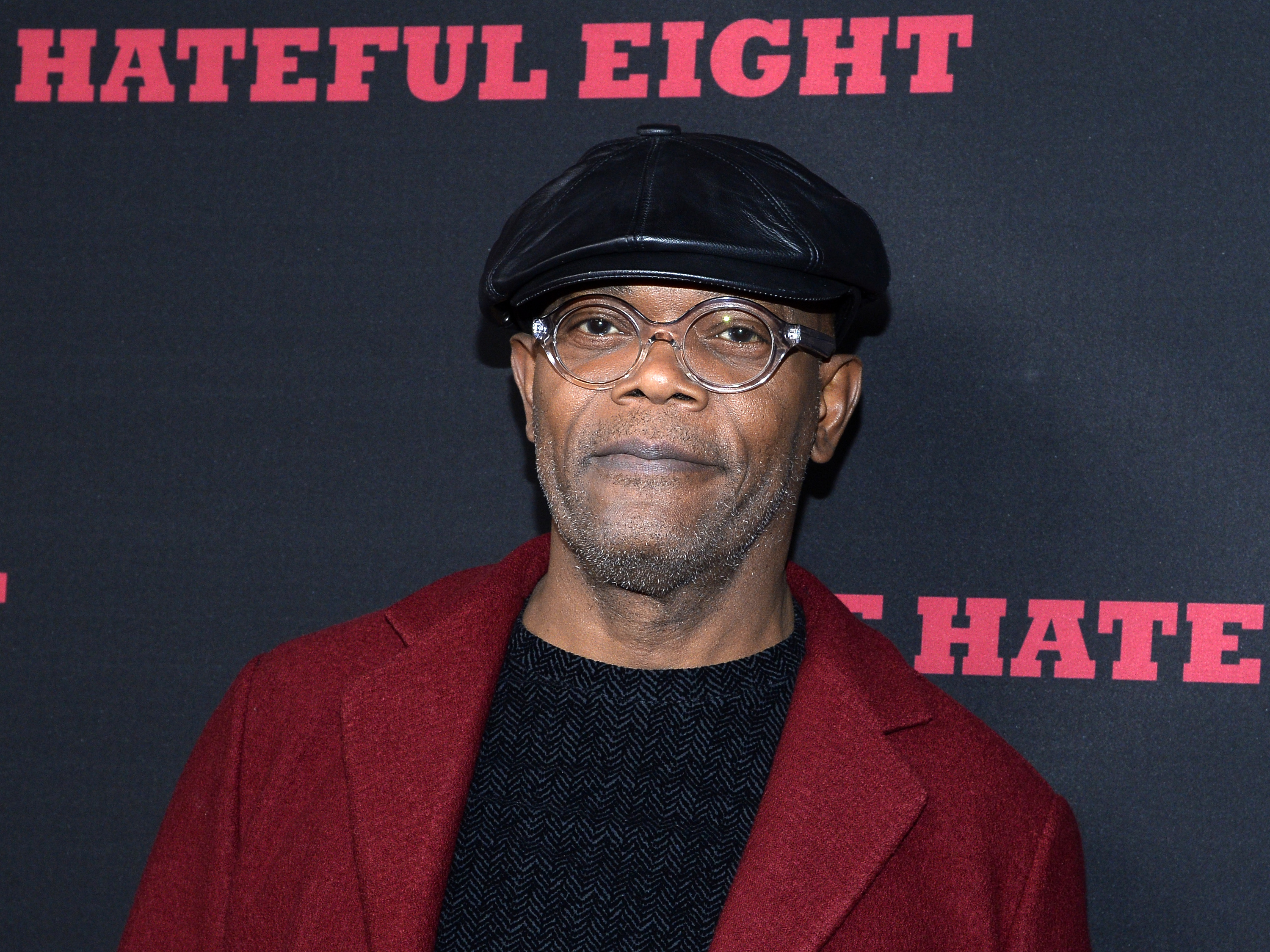 Actor Samuel L. Jackson attends the premiere of The Weinstein Company's 'The Hateful Eight' at ArcLight Cinemas Cinerama Dome on December 7, 2015 in Hollywood, California.