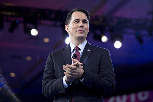 Scott Walker, governor of Wisconsin and former 2016 Republican presidential candidate, speaks during the American Conservative Unions Conservative Political Action Conference (CPAC) meeting in National Harbor, Maryland on March 3.