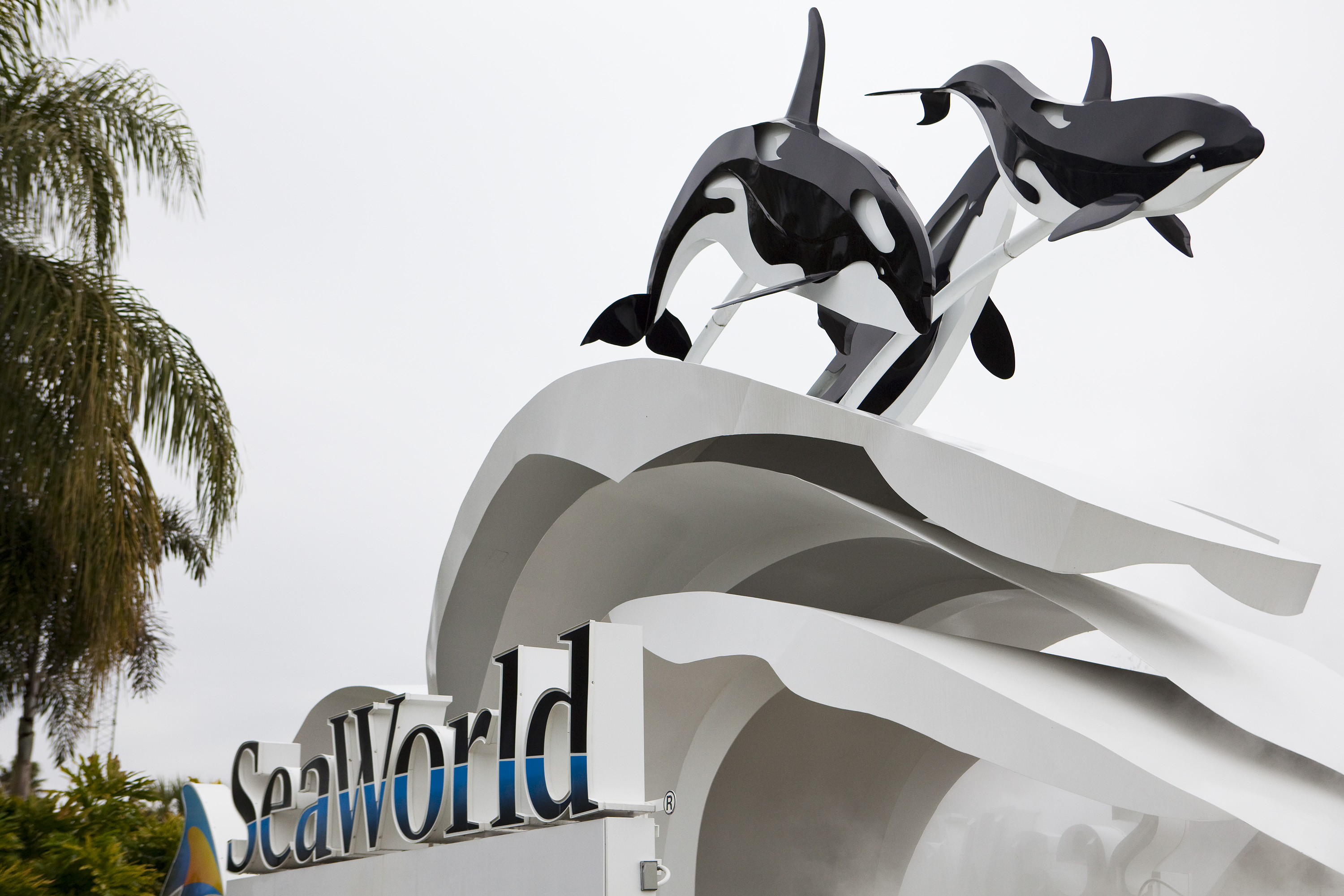 The sign at the entrance to SeaWorld Feb. 24, 2010 in Orlando, Florida.