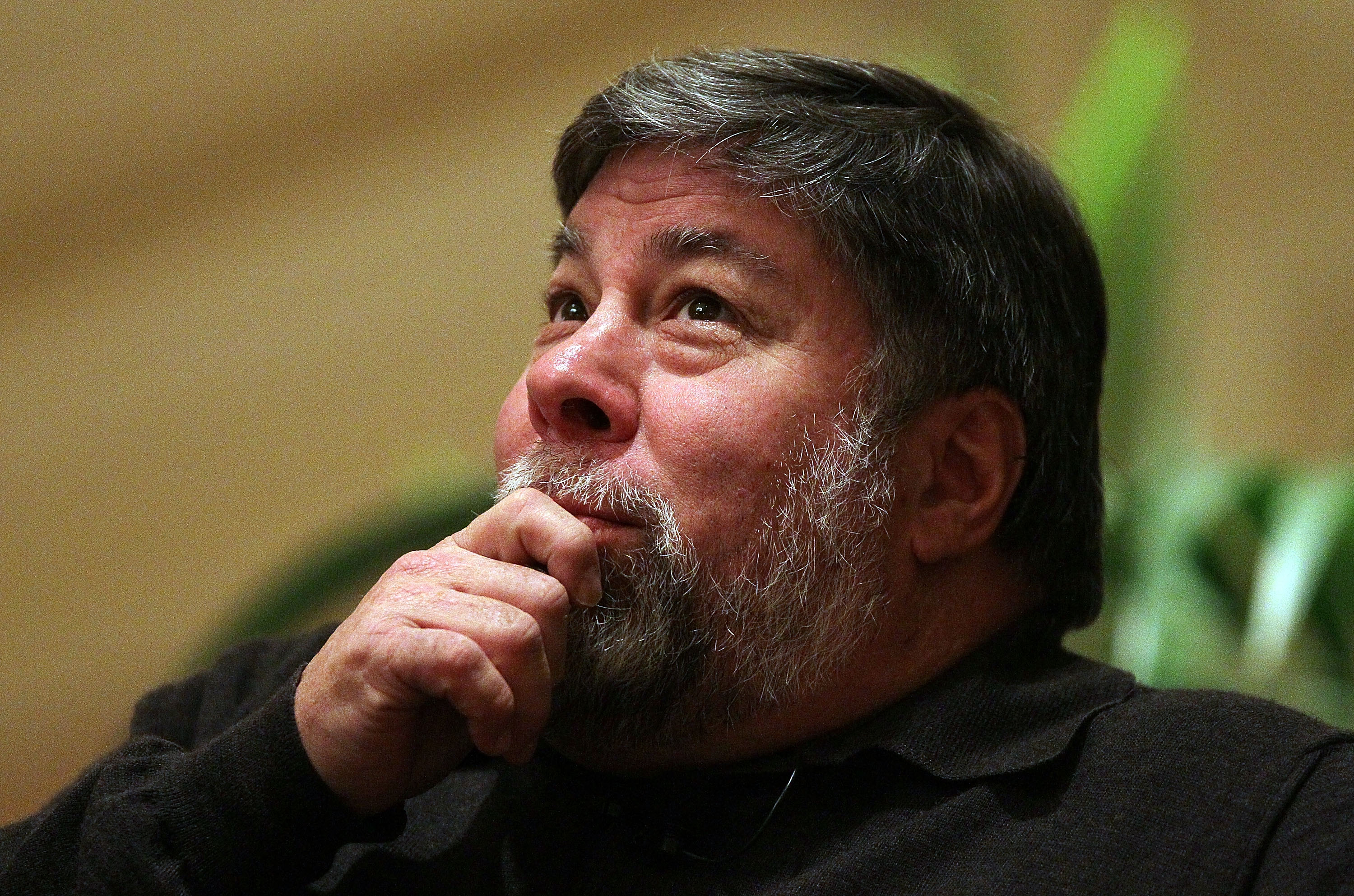 Apple Computer co-founder and philanthropist Steve Wozniak pauses while speaking at the Bay Area Discovery Museum's Discovery Forum on Feb. 1, 2010 in San Francisco.