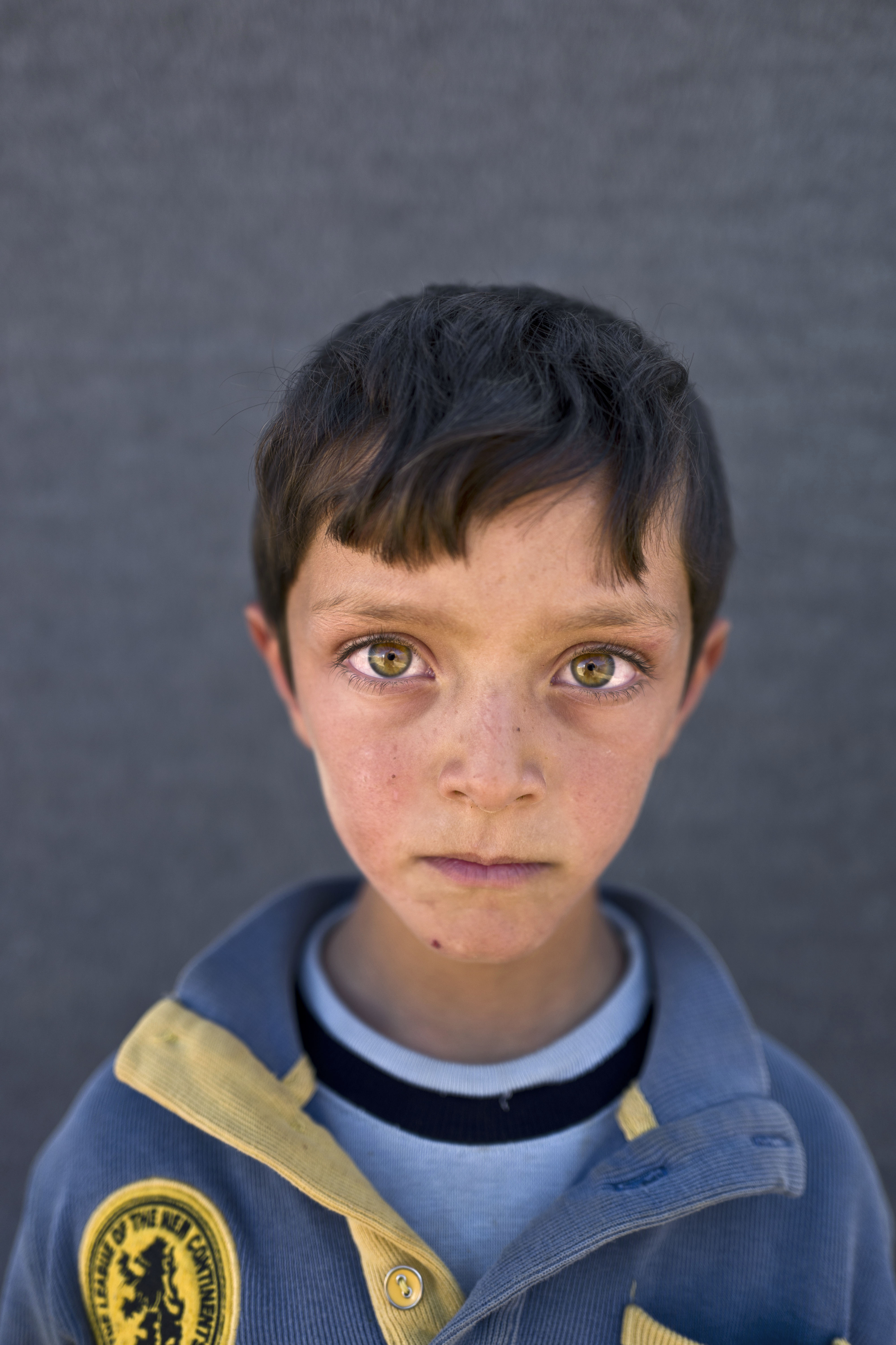 """<strong>Ahmad Zughayar</strong>, 6, from Deir el-Zour. """"I remember the sound of bombings on homes in Deir el-Zour,"""" says Zughayar."""