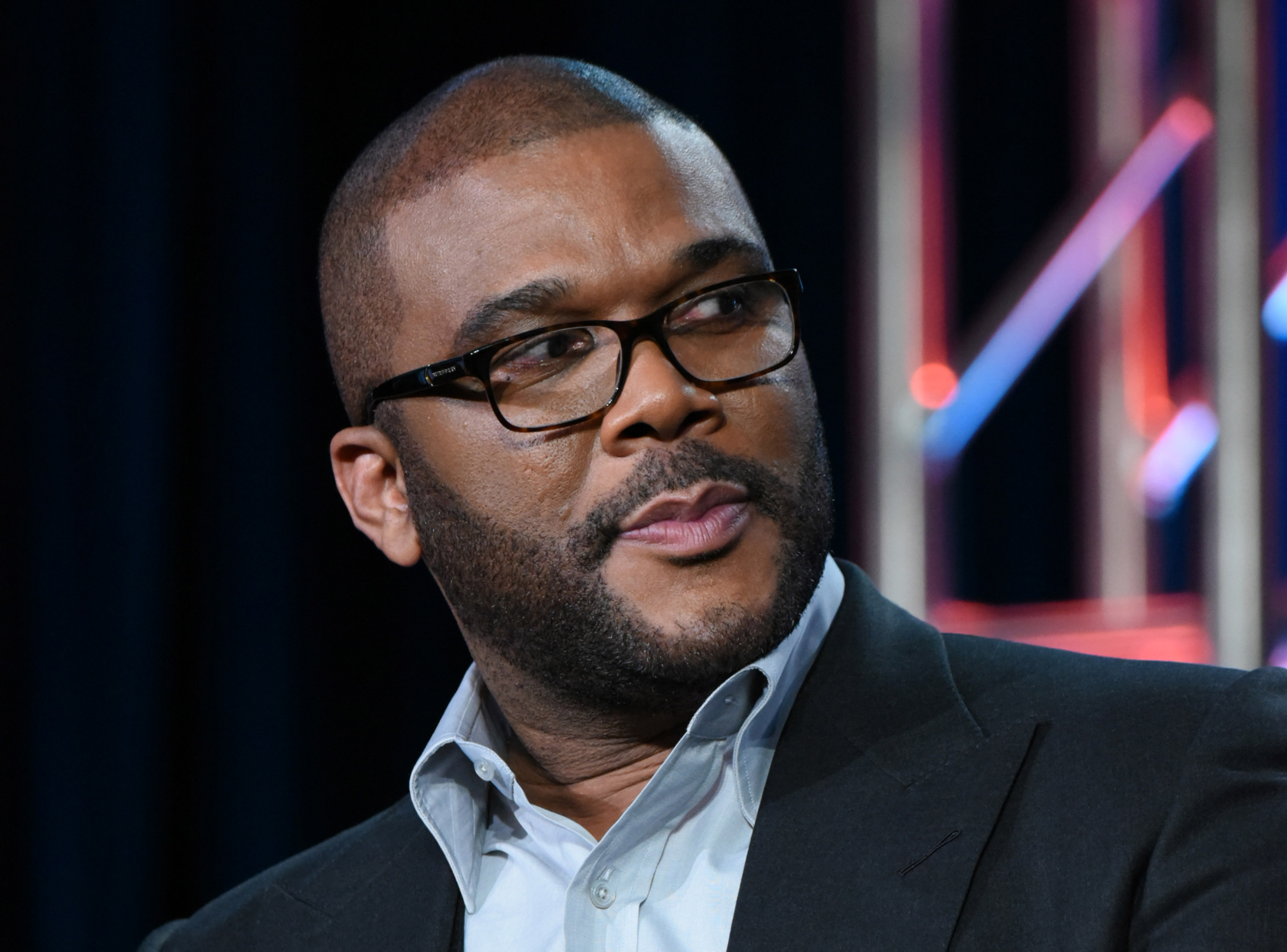 Tyler Perry participates in a panel for  The Passion  at the Fox Winter TCA in Pasadena, Calif., on Jan. 15, 2016.