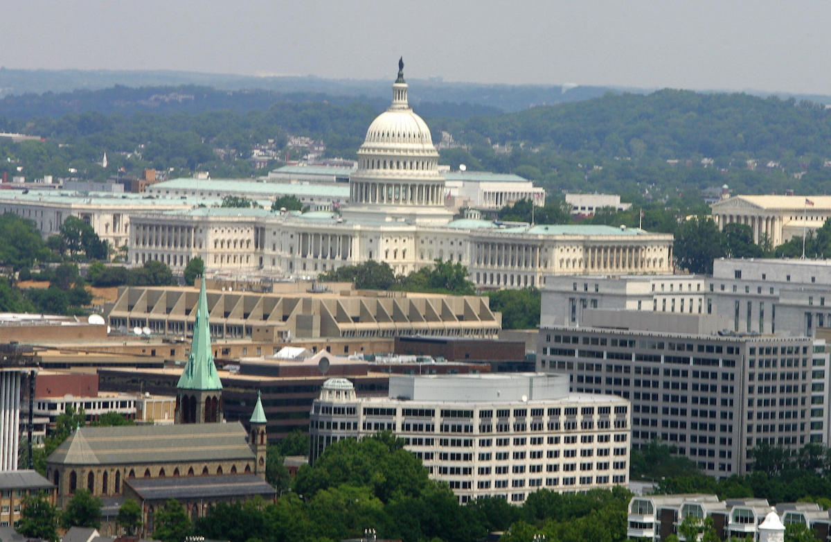 The Washington, DC, skyline seen in 2005