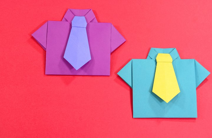 Origami Shirt and Tie