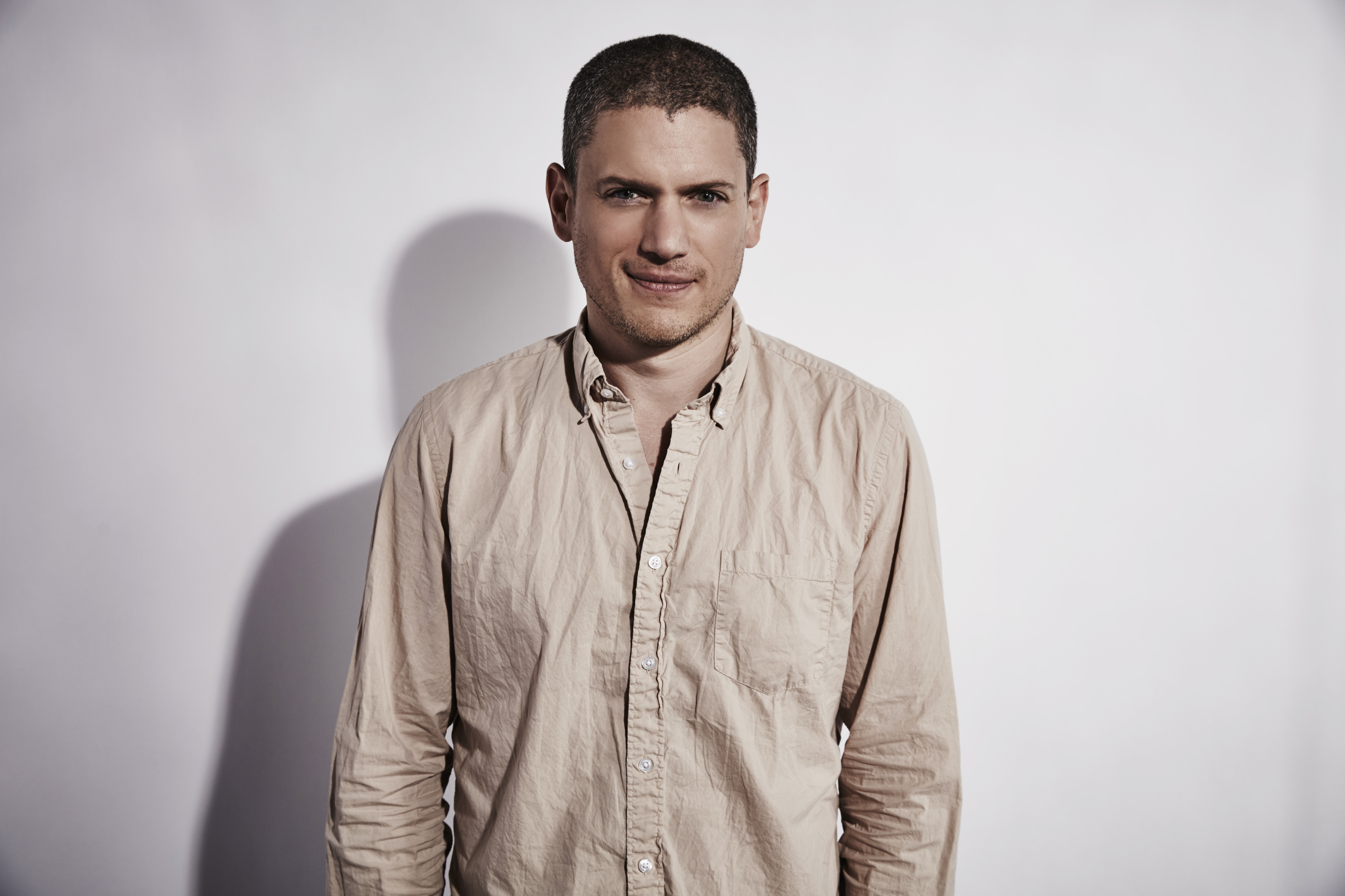 Actor Wentworth Miller of  Legends of Tomorrow  poses for a portrait at the Getty Images Portrait Studio Powered By Samsung Galaxy At Comic-Con International 2015 at Hard Rock Hotel San Diego on July 11, 2015 in San Diego, California.