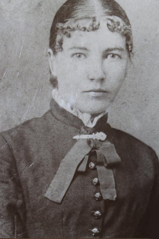 Laura Ingalls Wilder (1867-1957) as schoolteacher, 1887.