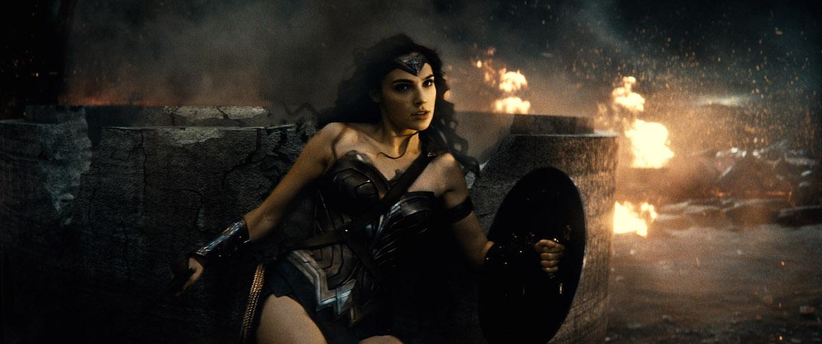 Gal Gadot as Wonder Woman in 'Batman v Superman'
